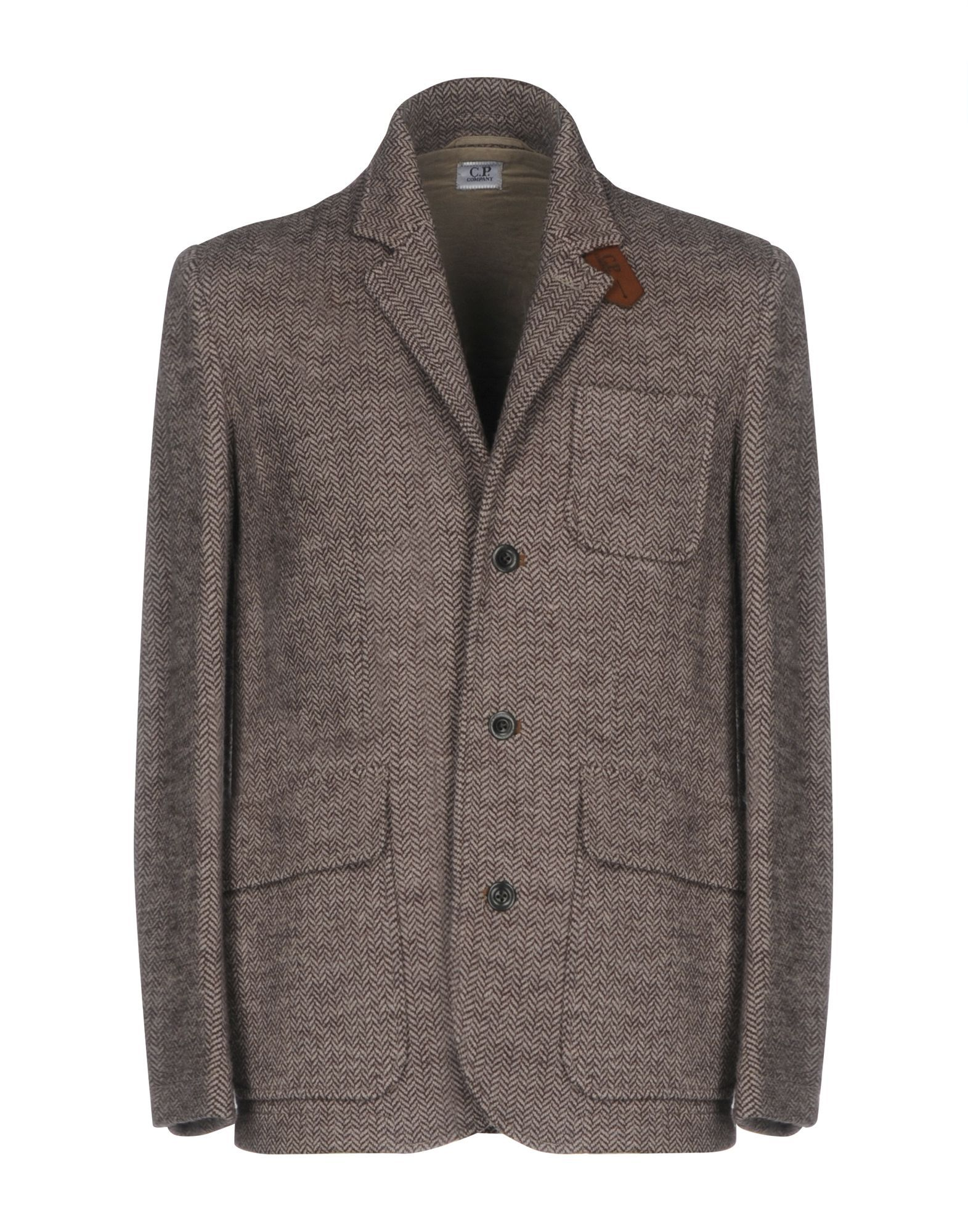 SUITS AND JACKETS C.P. Company Khaki Man Wool