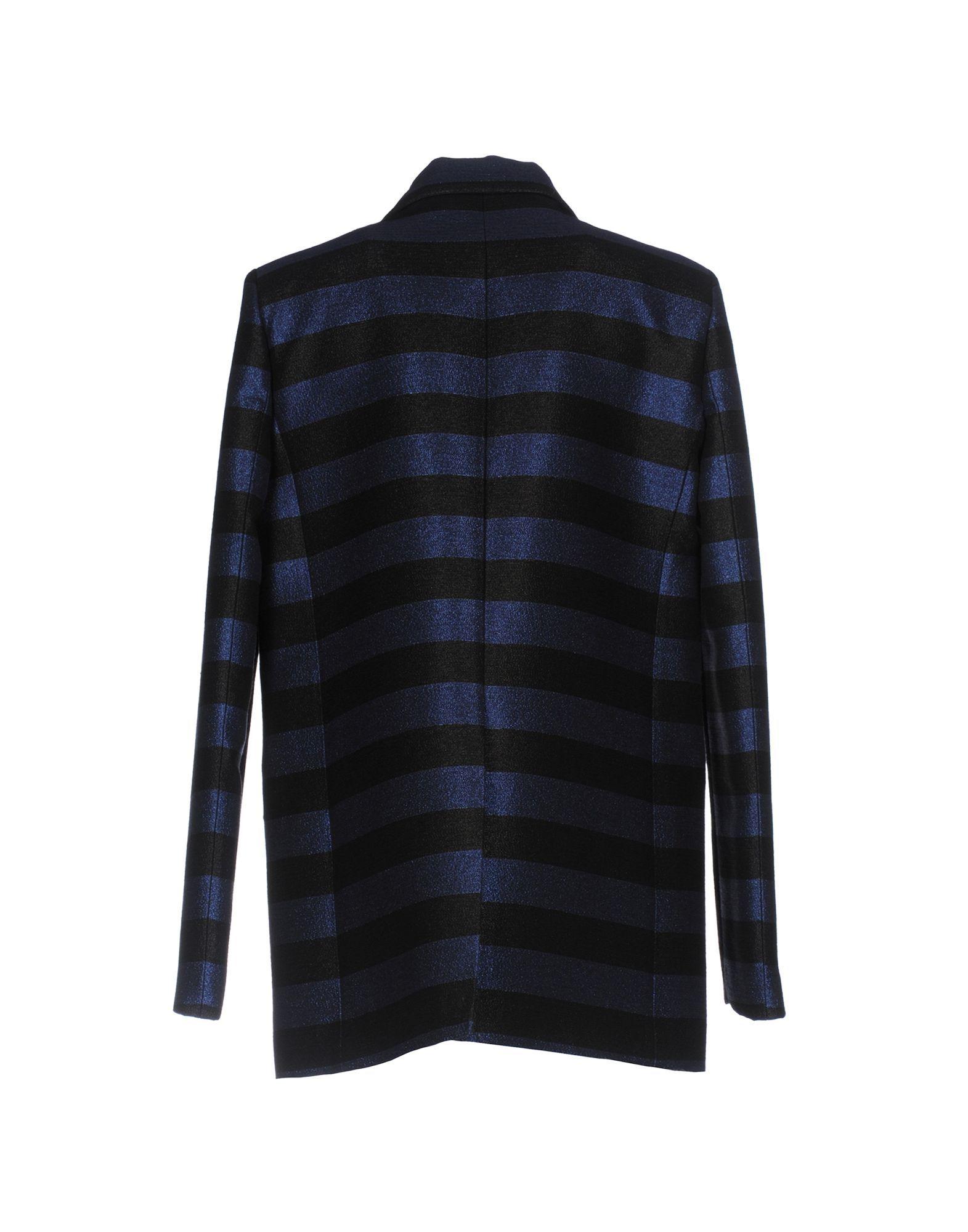 Iceberg Dark Blue Cotton Lame Single Breasted Jacket