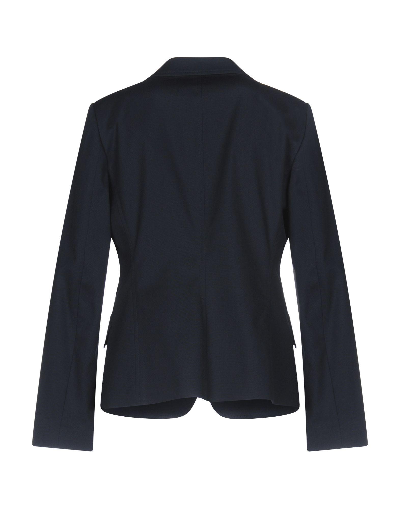 Fay Dark Blue Cotton Single Breasted Blazer