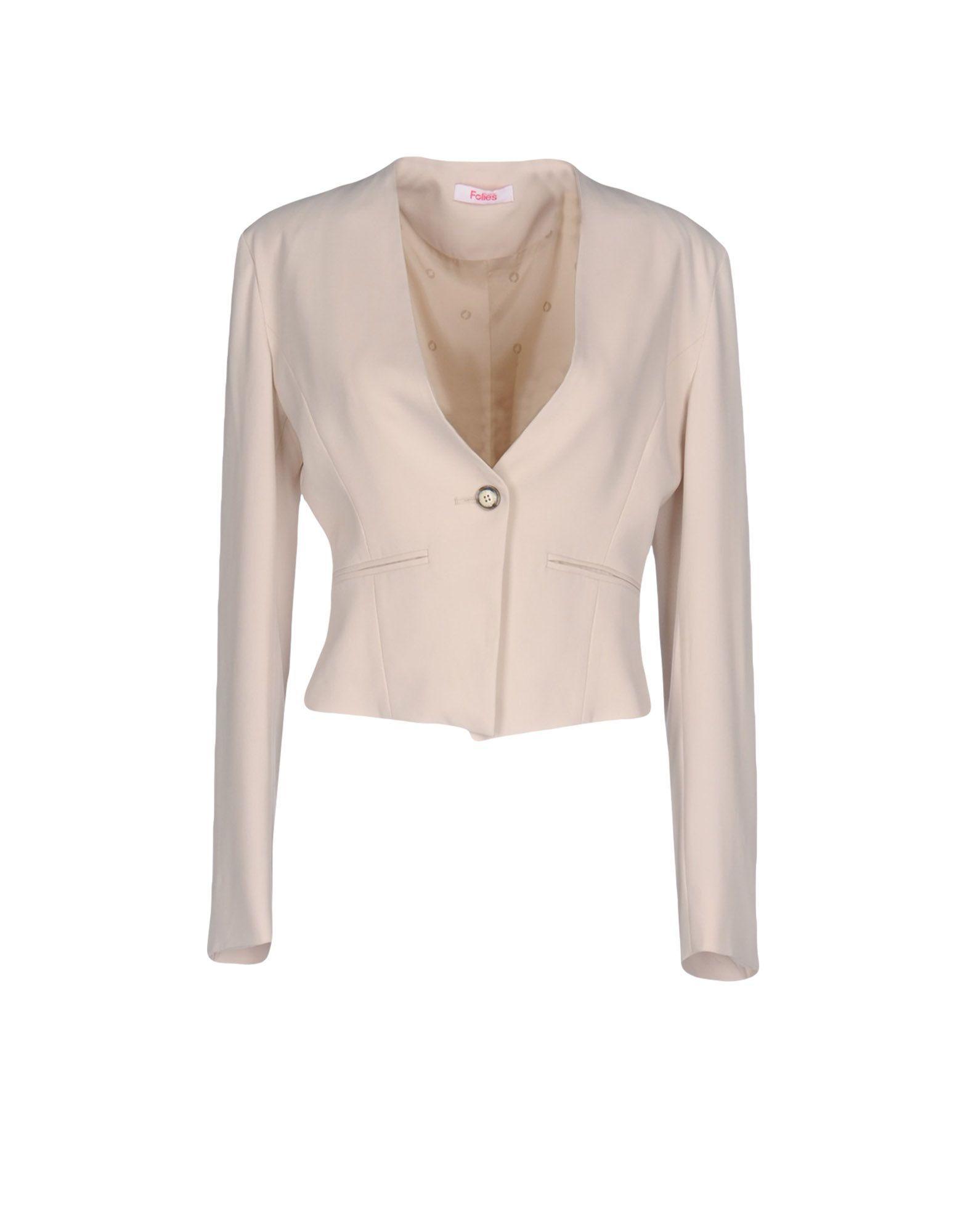Blugirl Blumarine Beige Single Button Jacket