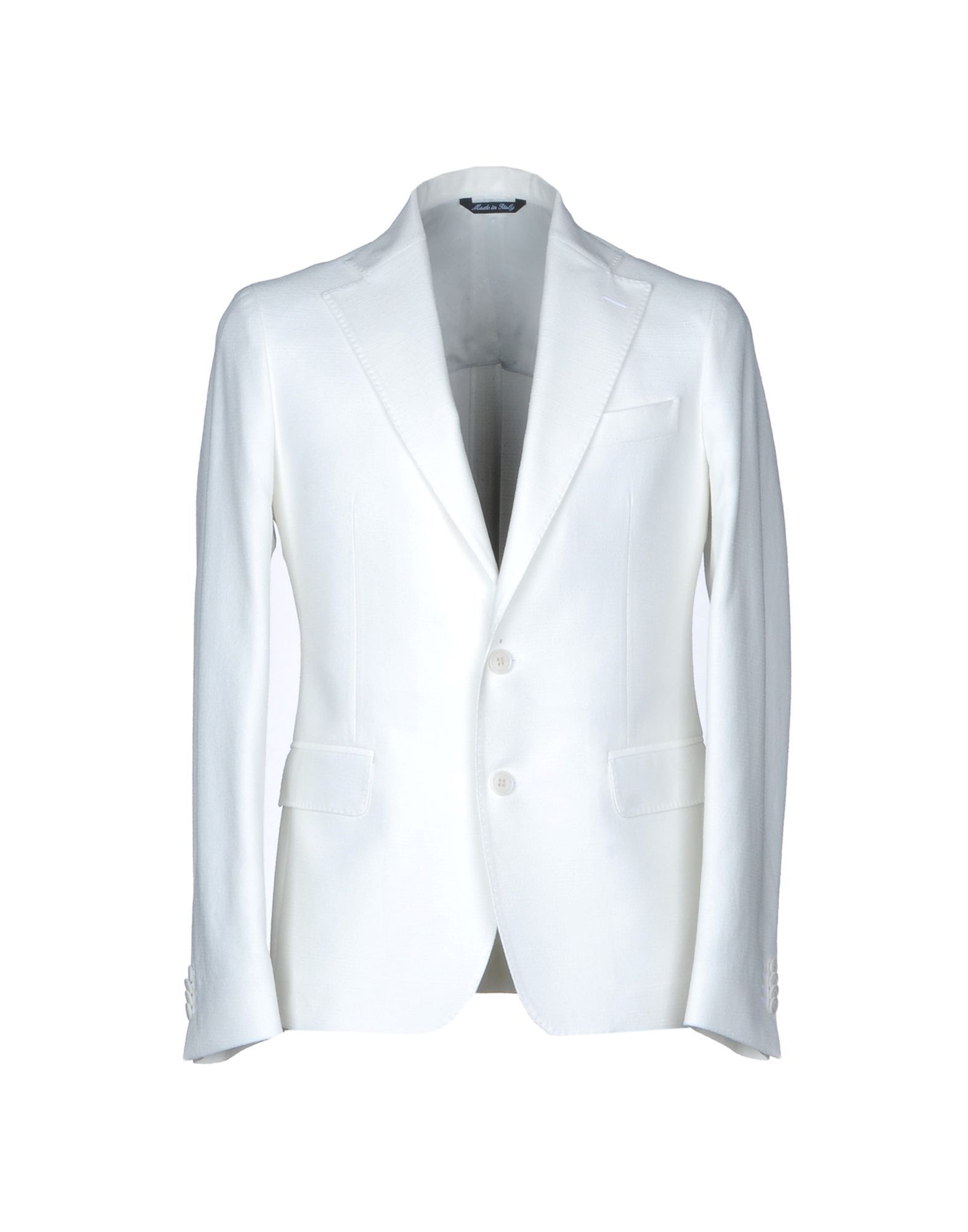 SUITS AND JACKETS Brian Dales Ivory Man Cotton