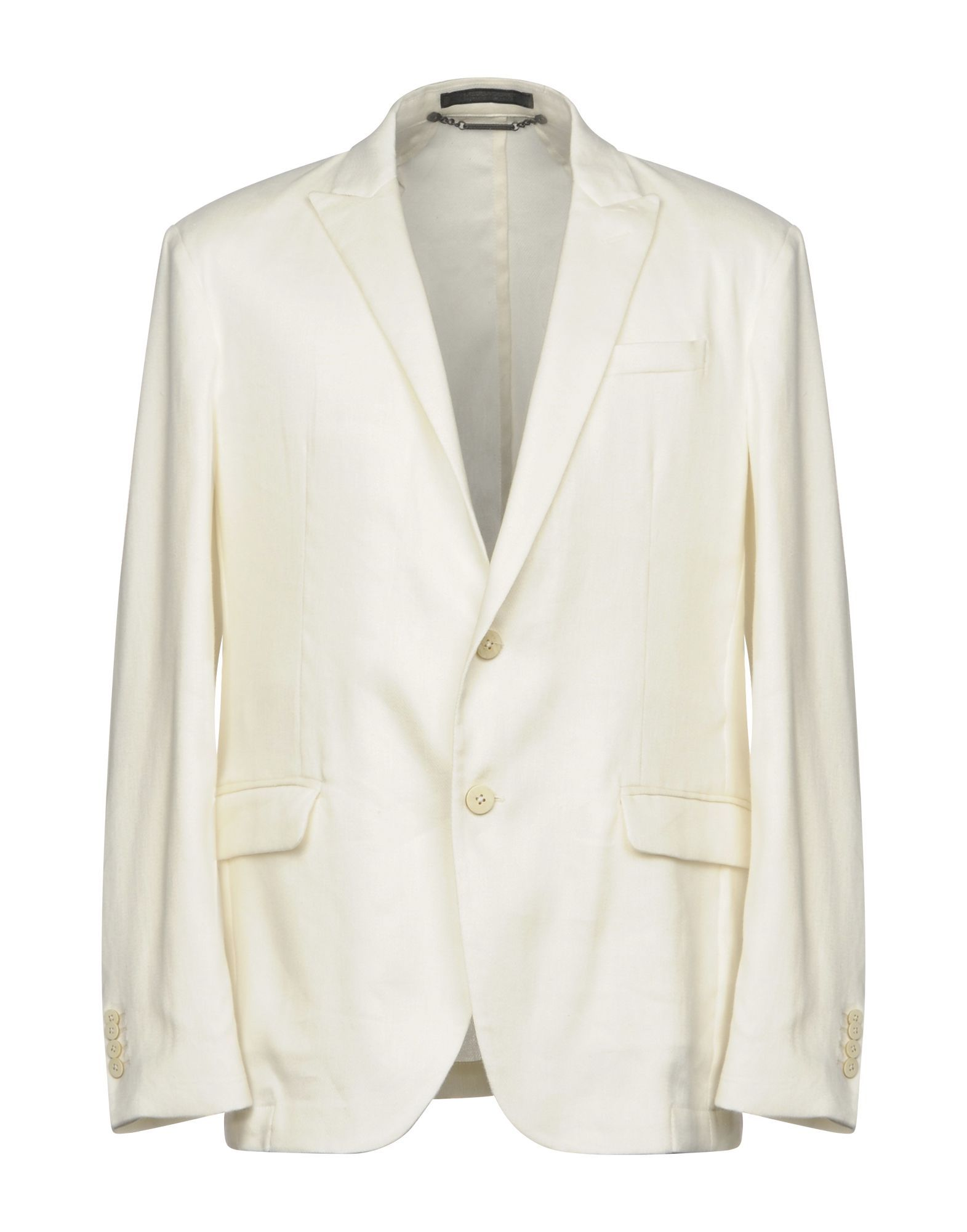 SUITS AND JACKETS Messagerie Ivory Man Linen