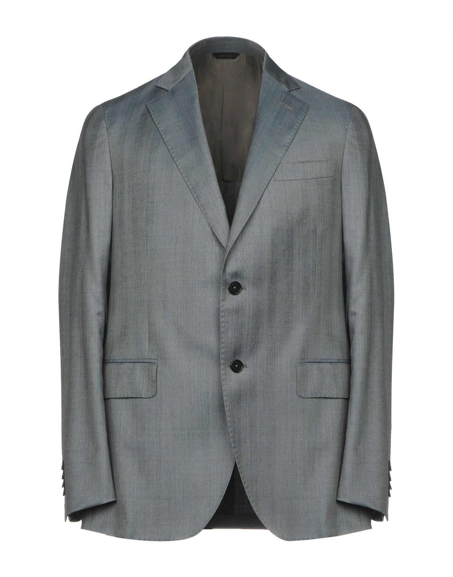 Tombolini Grey Virgin Wool Single Breasted Blazer