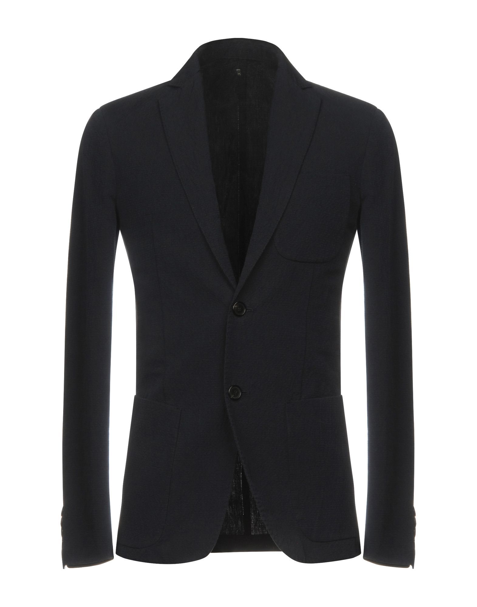Dondup Dark Blue Cotton Single Breasted Jacket