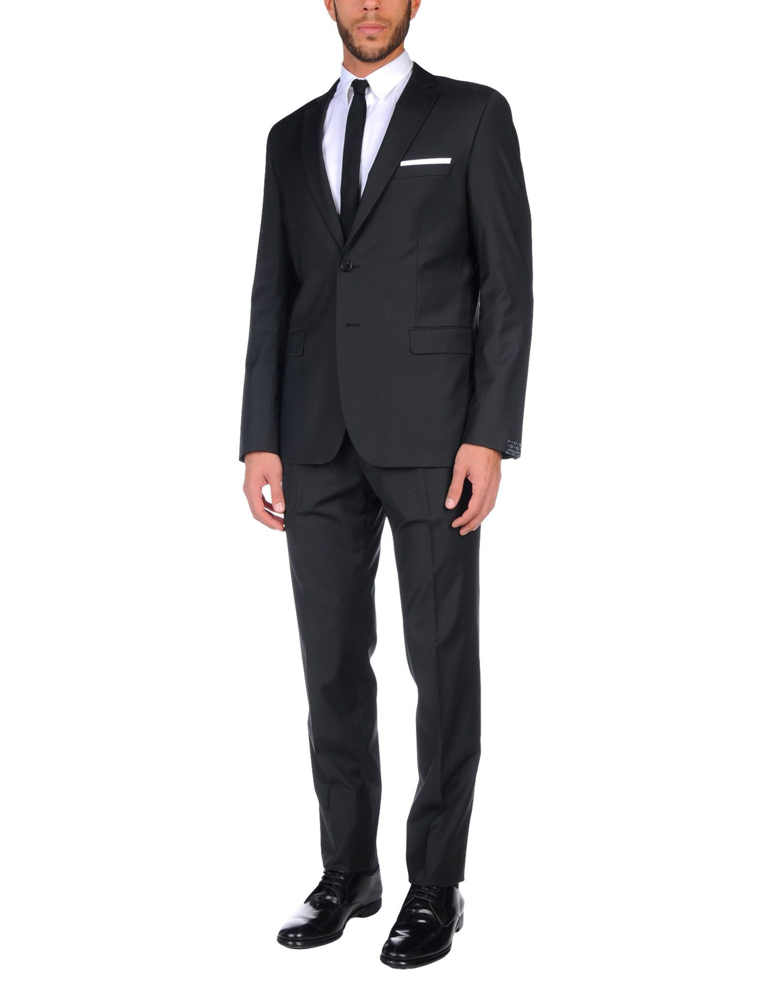 SUITS AND JACKETS Paoloni Black Man Polyester