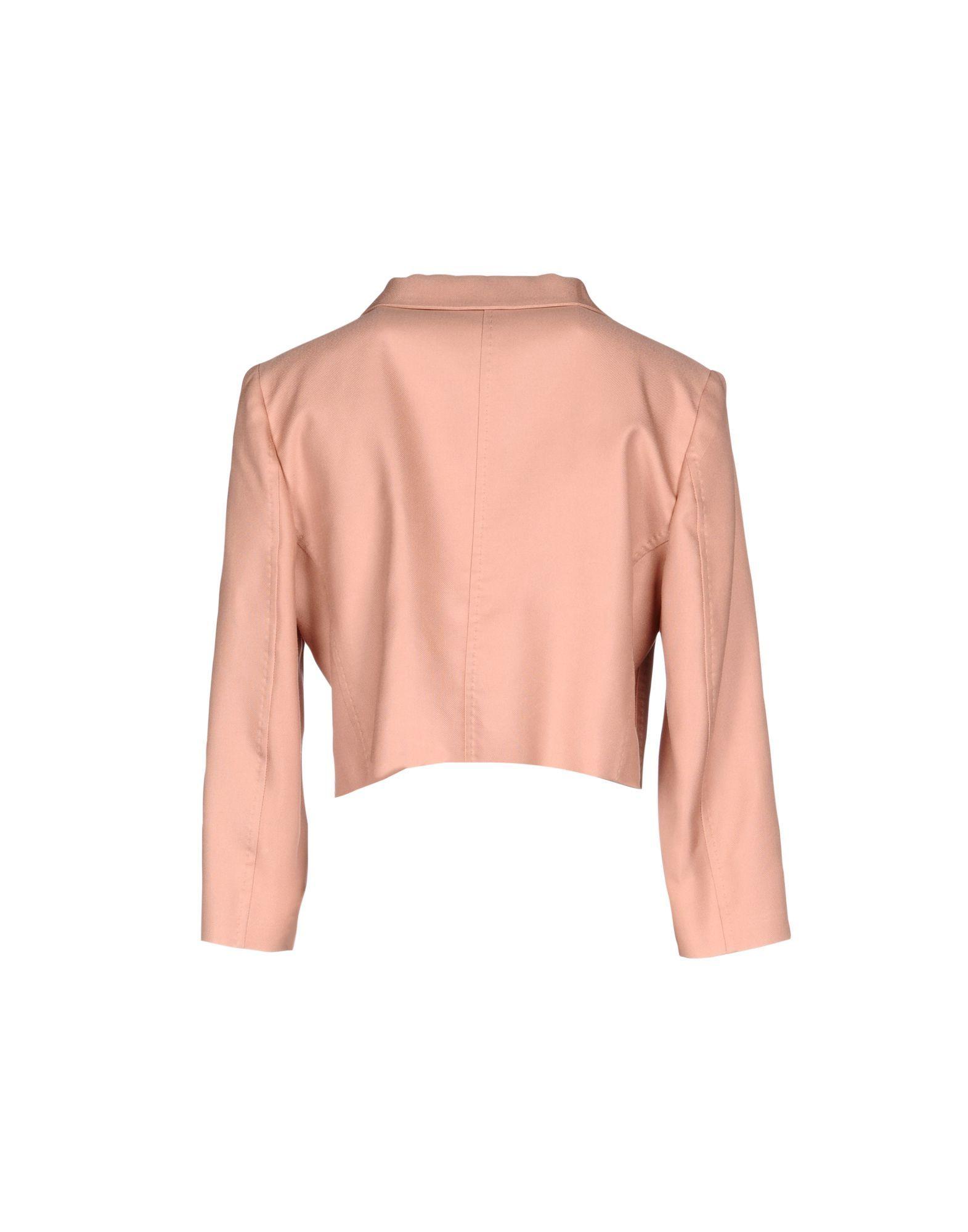 Les Copains Pastel Pink Silk Jacket