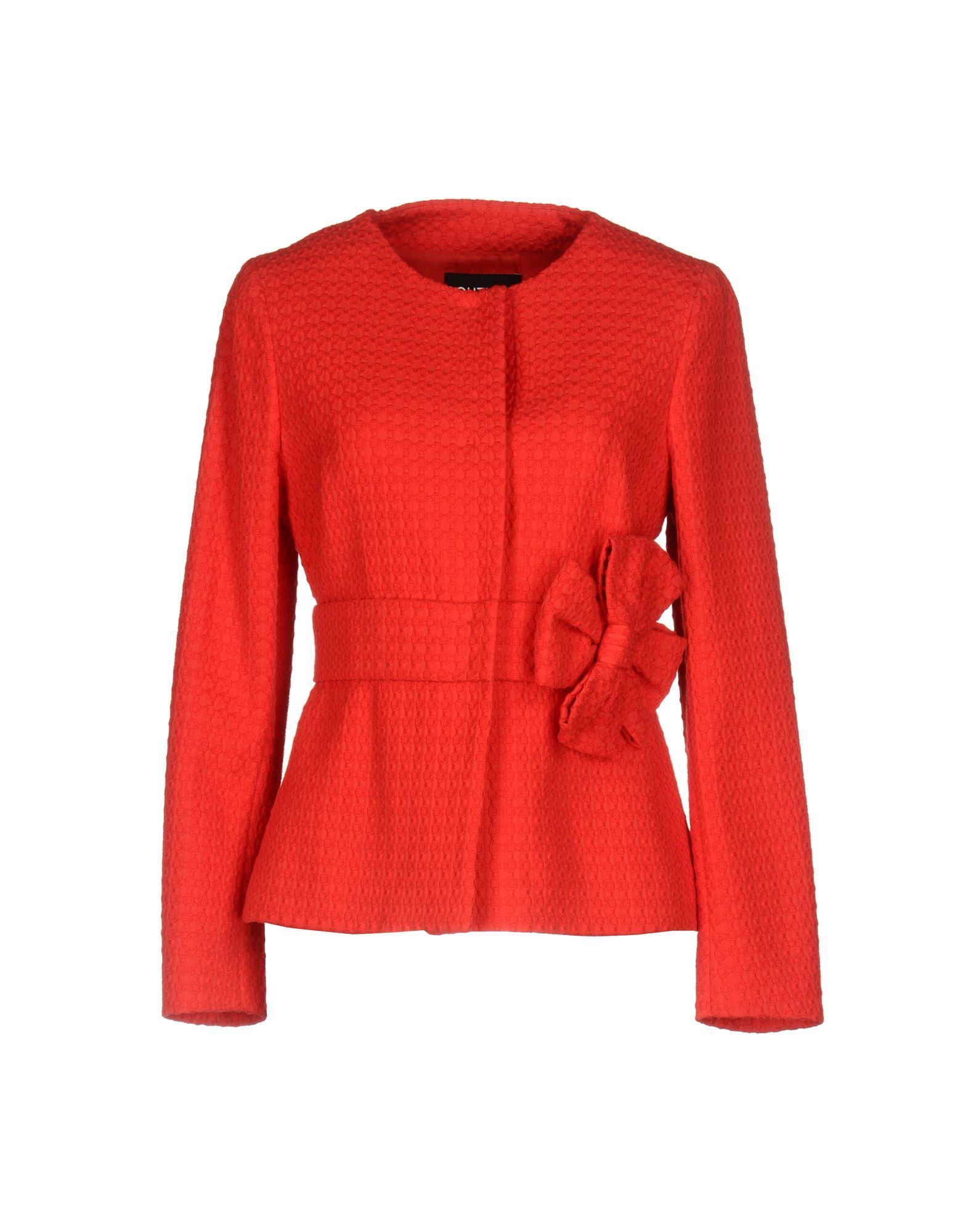 Boutique Moschino Red Cotton Jacquard Jacket