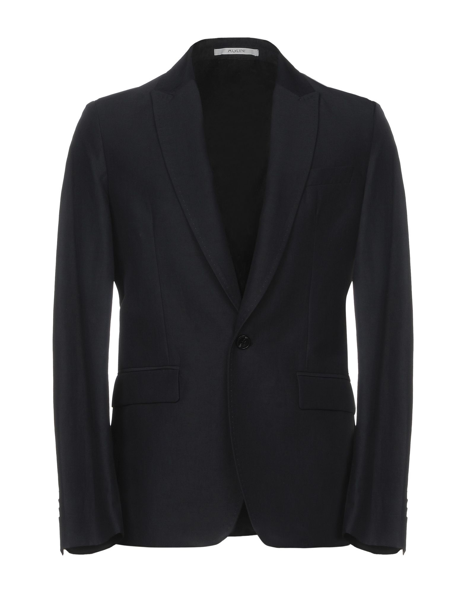 SUITS AND JACKETS Aglini Dark blue Man Cotton