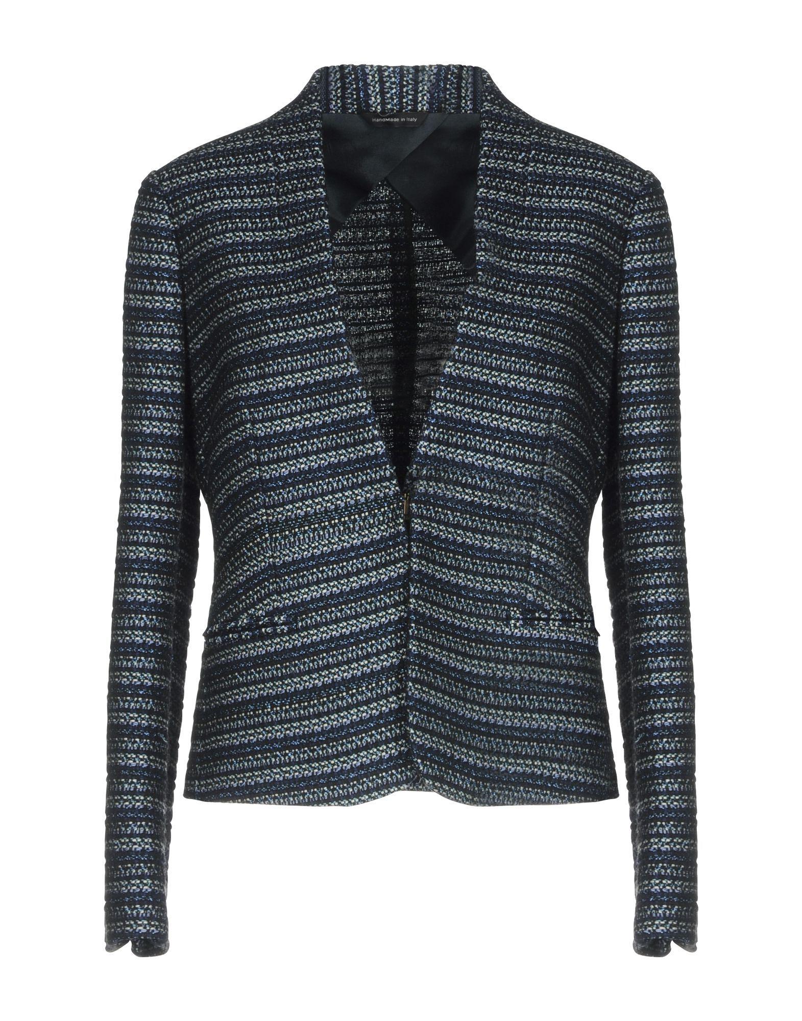 Tonello Dark Blue Tweed Single Breasted Blazer