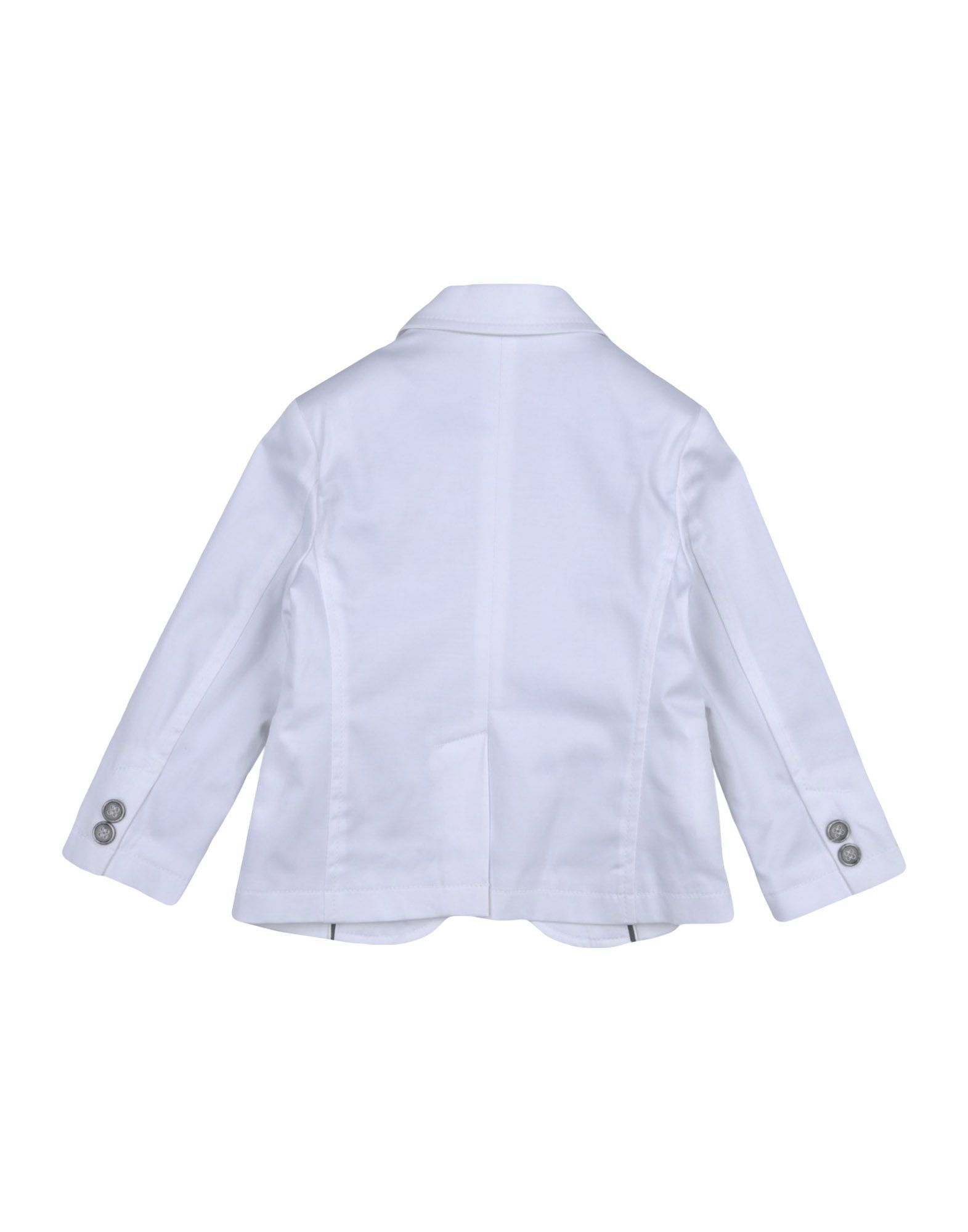 SUITS AND JACKETS Paolo Pecora White Boy Cotton