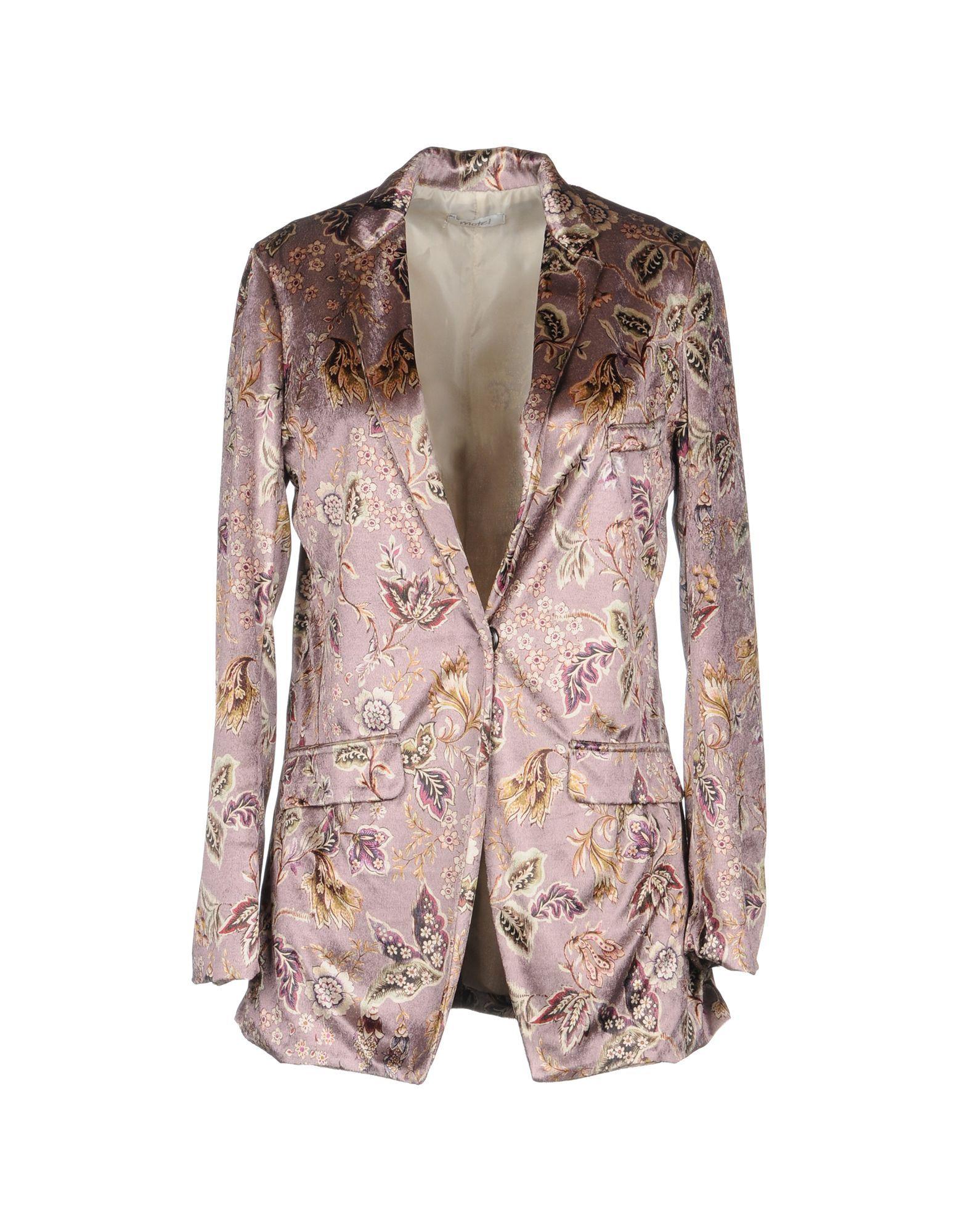 Motel Pastel Pink Print Single Breasted Jacket