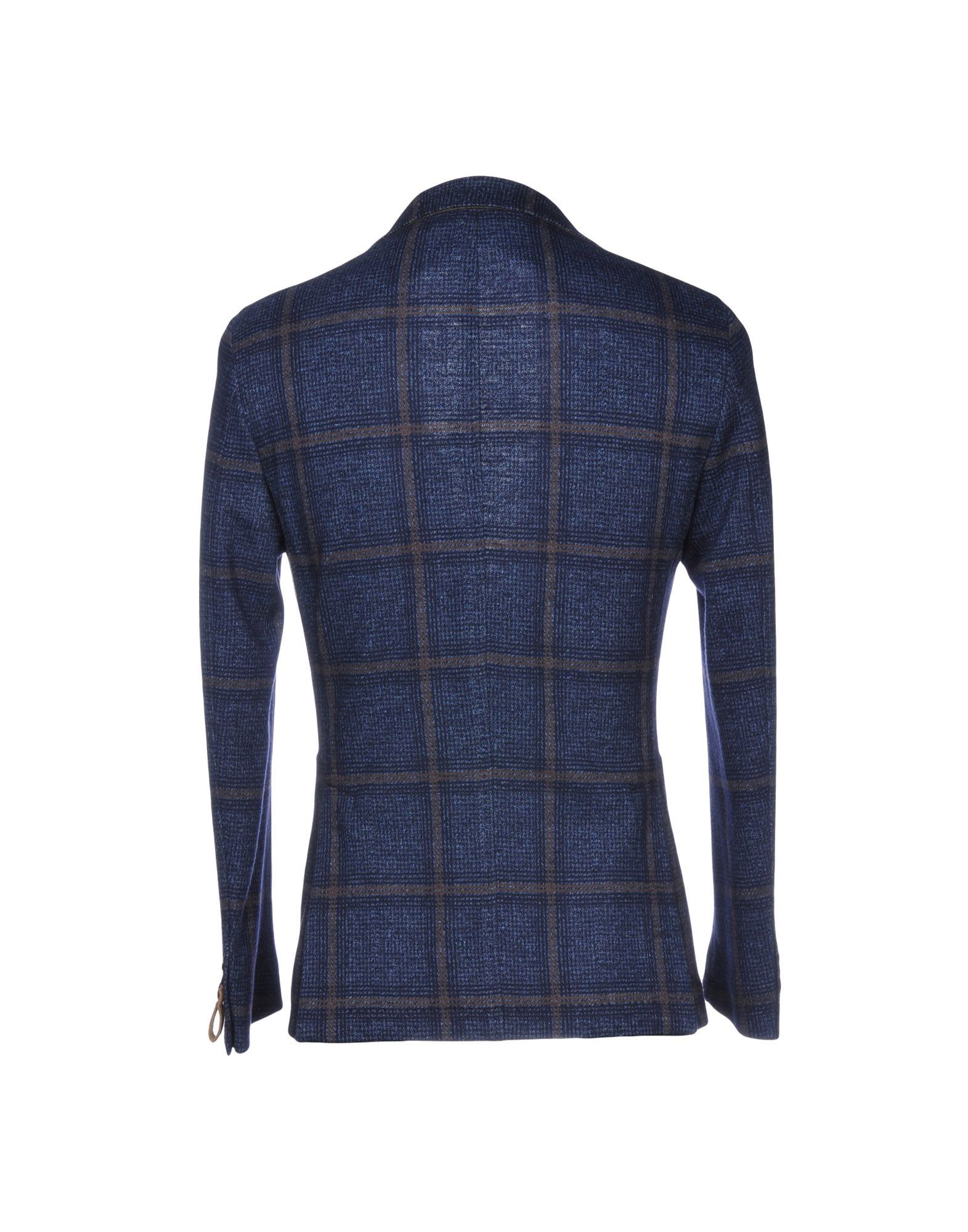 SUITS AND JACKETS Paoloni Dark blue Man Cotton