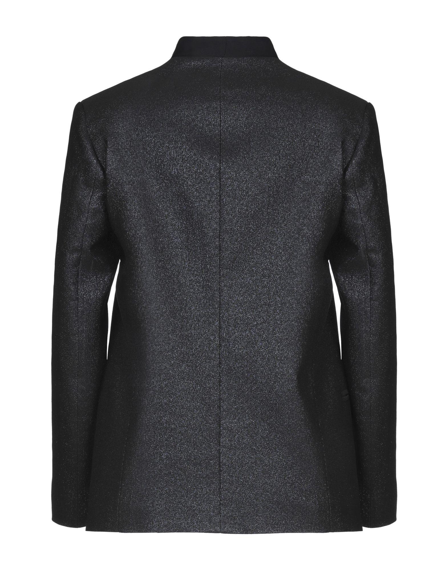 Mauro Grifoni Black Cotton Lame Single Breasted Blazer