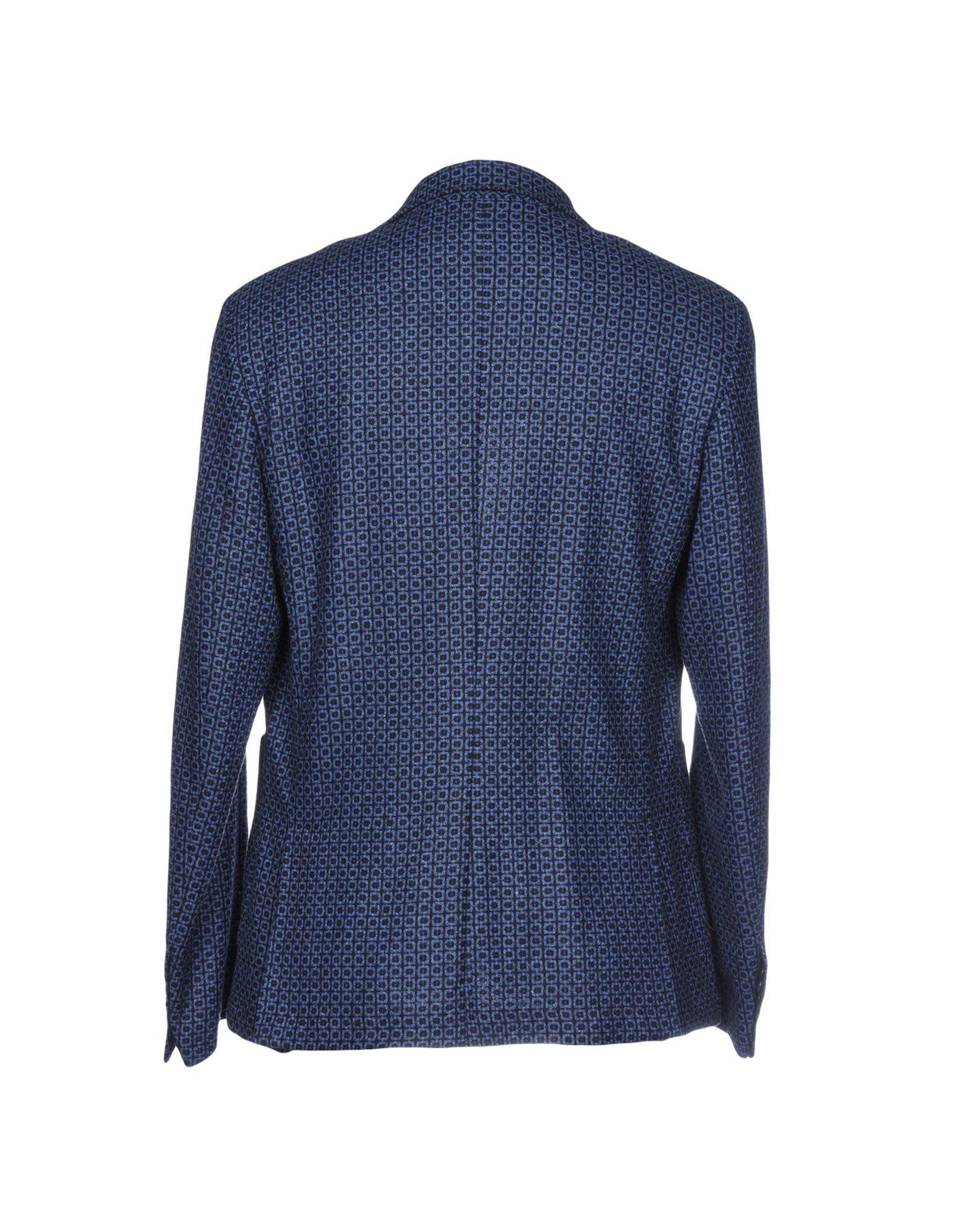 Harry & Sons Blue Virgin Wool Single Breasted Blazer