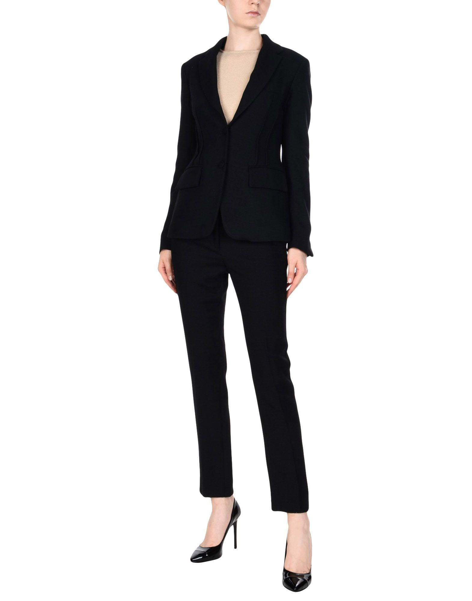 Mauro Grifoni Black Single Breasted Suit
