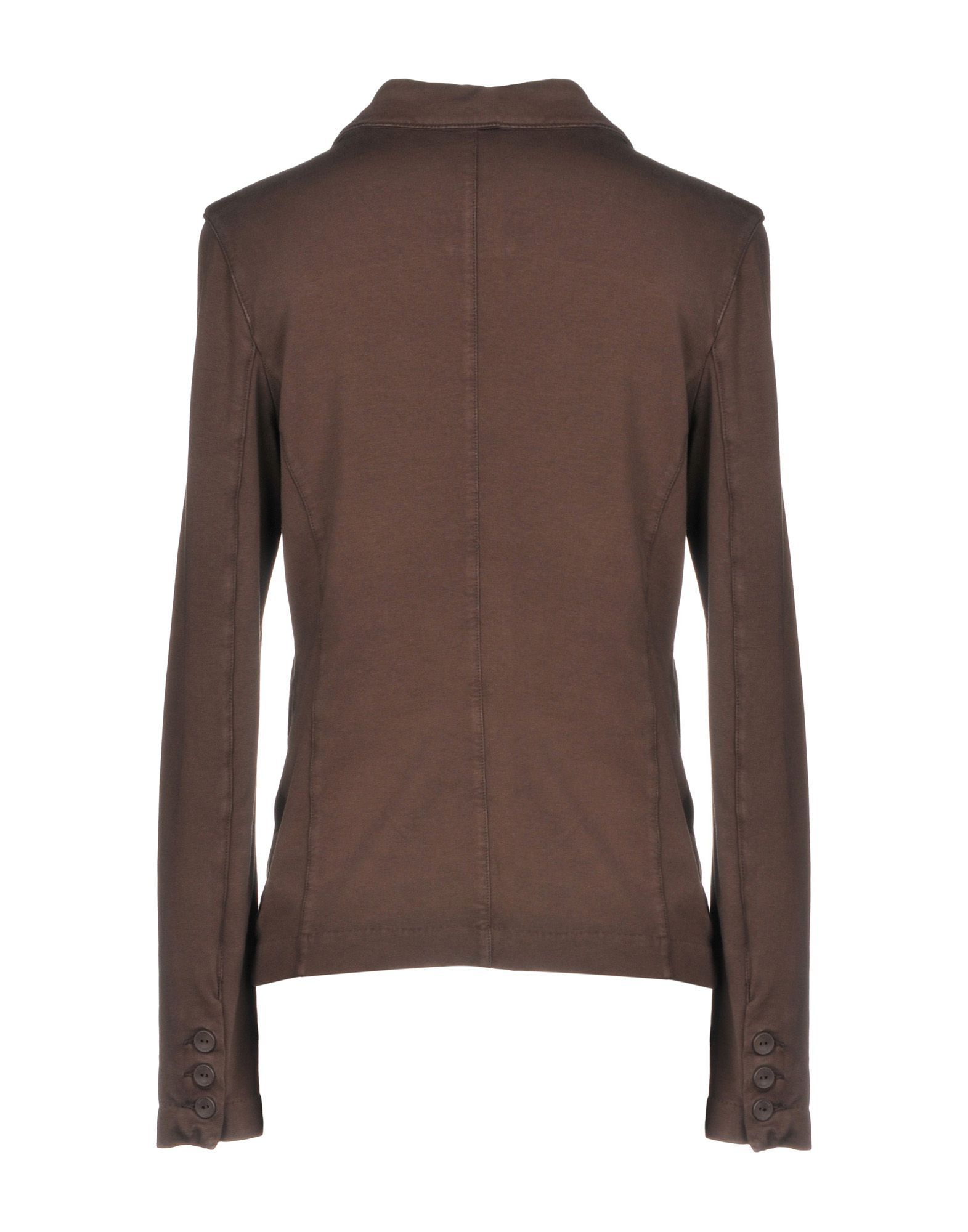 SUITS AND JACKETS European Culture Dark brown Woman Cotton