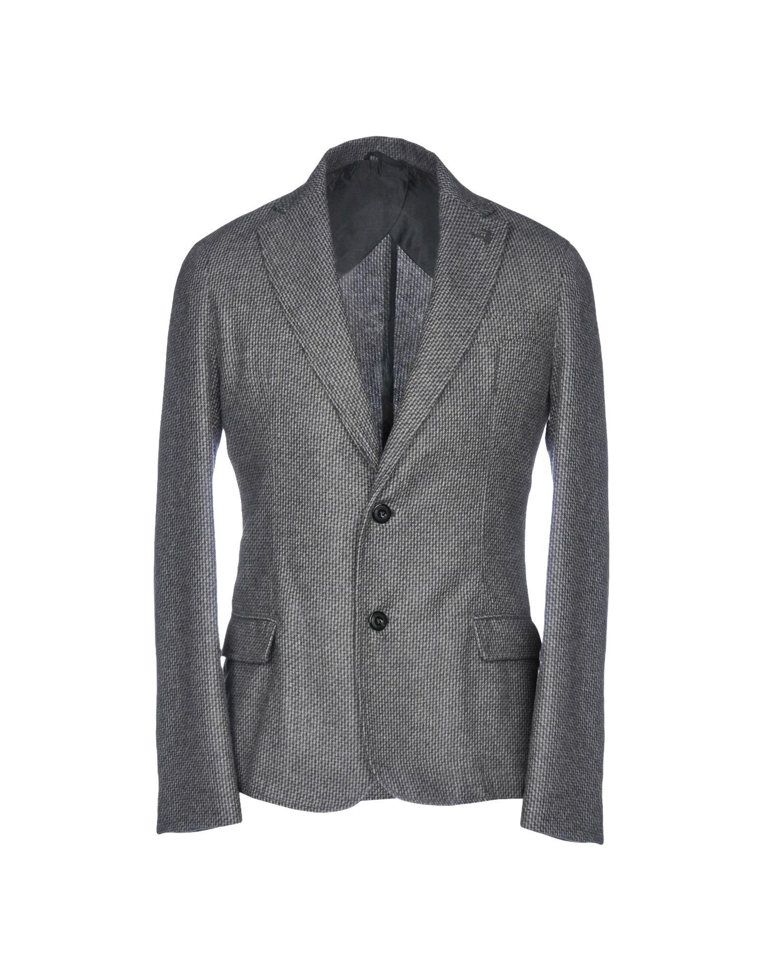 Trussardi Jeans Grey Wool Single Breasted Jacket