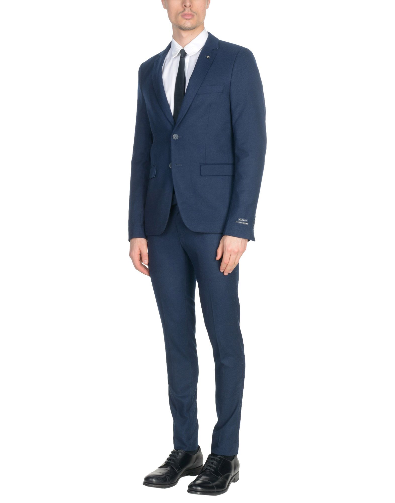 SUITS AND JACKETS Yes Zee By Essenza Dark blue Man Polyester