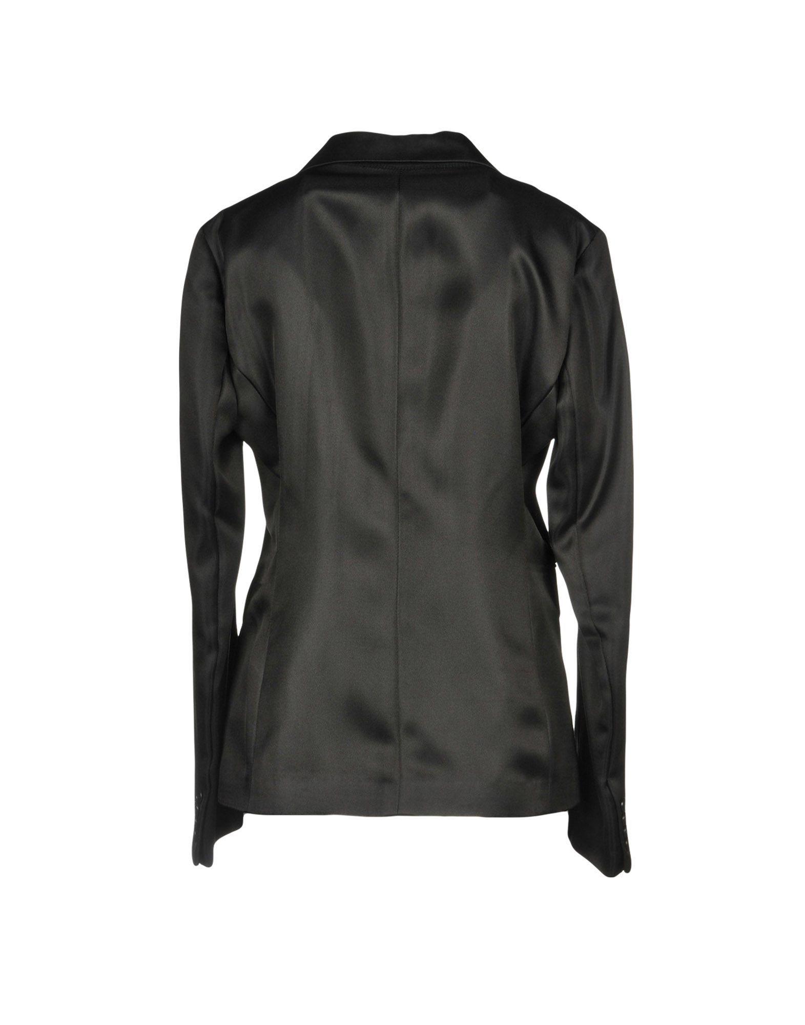 Aspesi Black Silk Weave Single Breasted Blazer