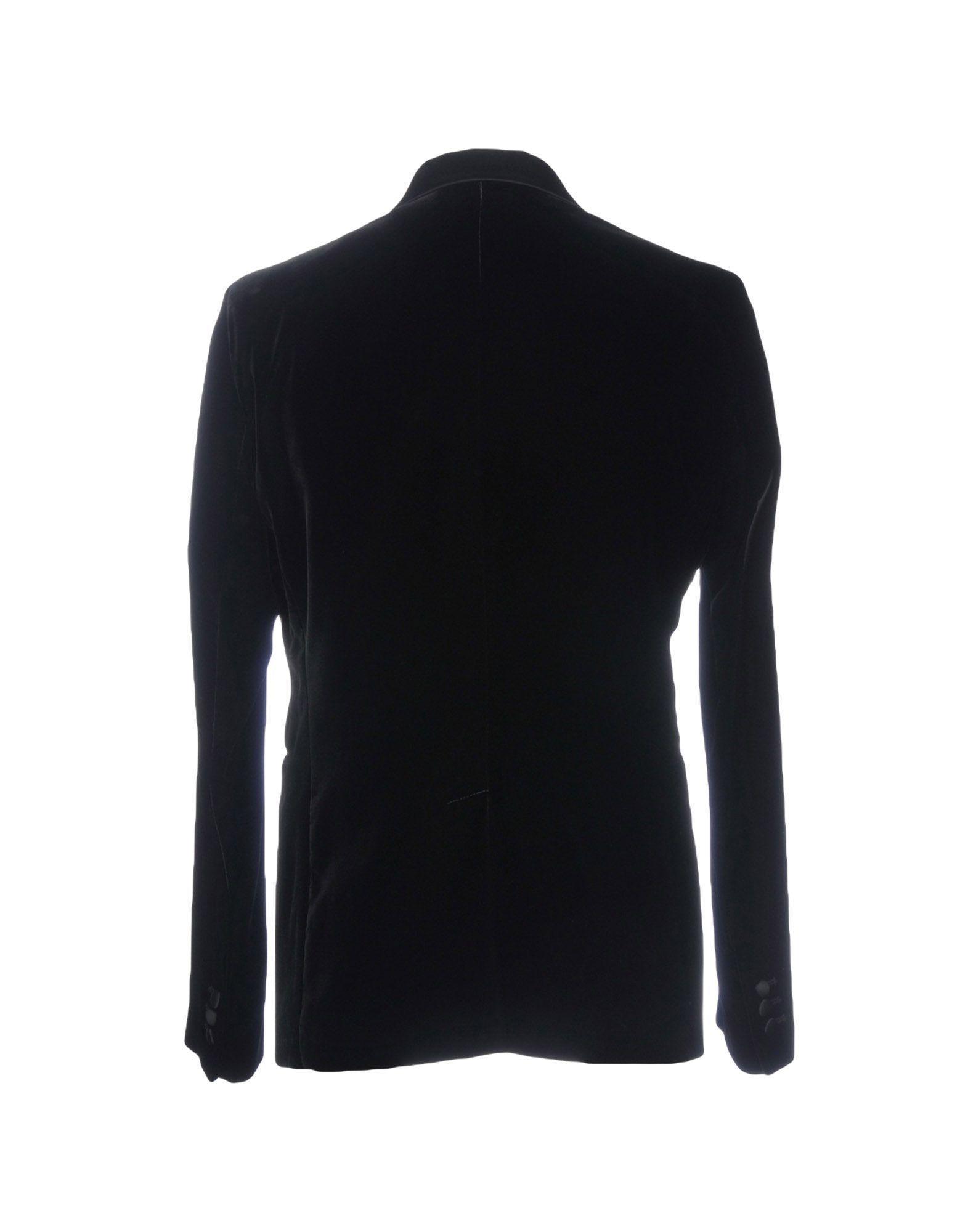 Emporio Armani Black Velvet Double Breasted Jacket