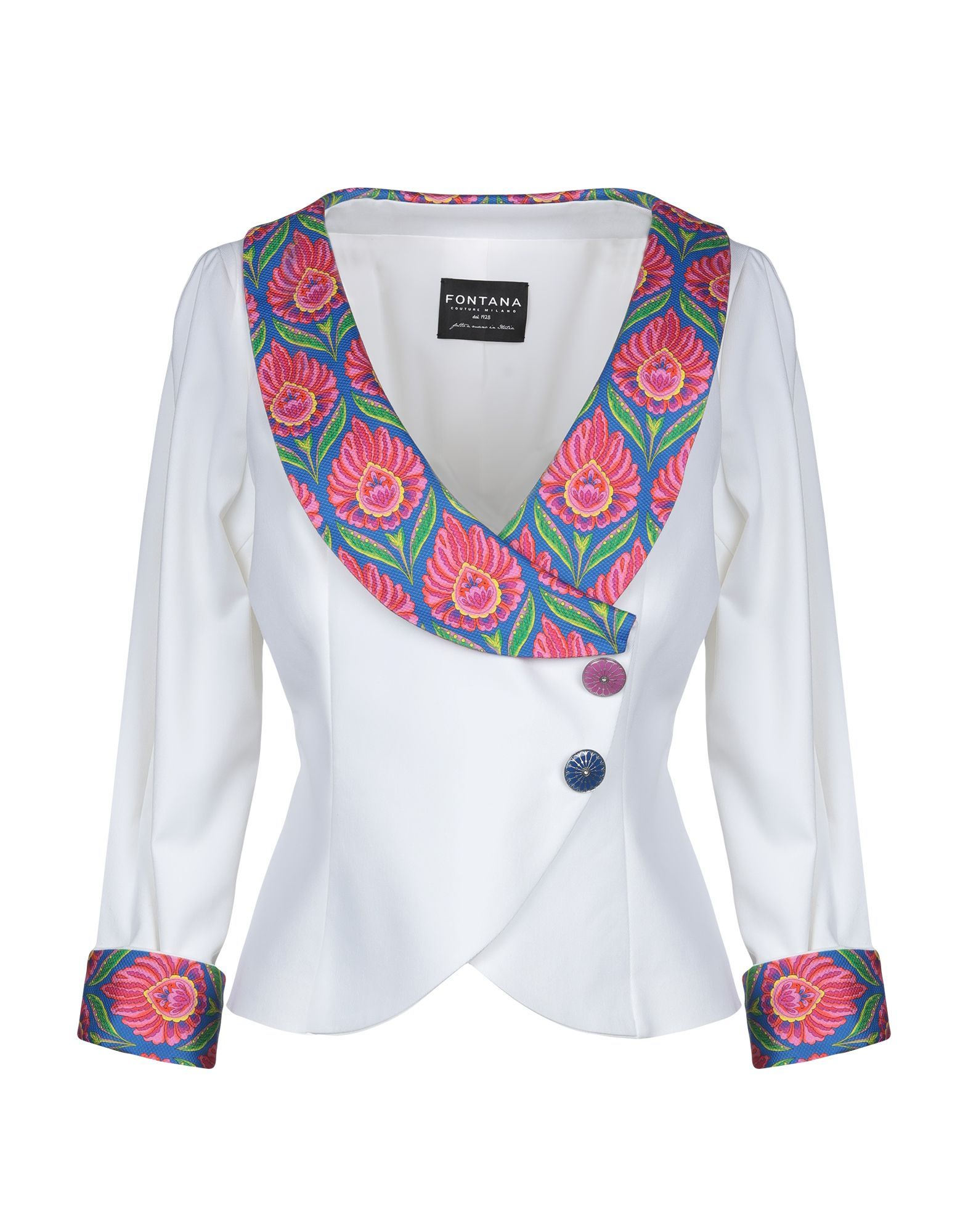 SUITS AND JACKETS Woman Fontana Couture White Paper