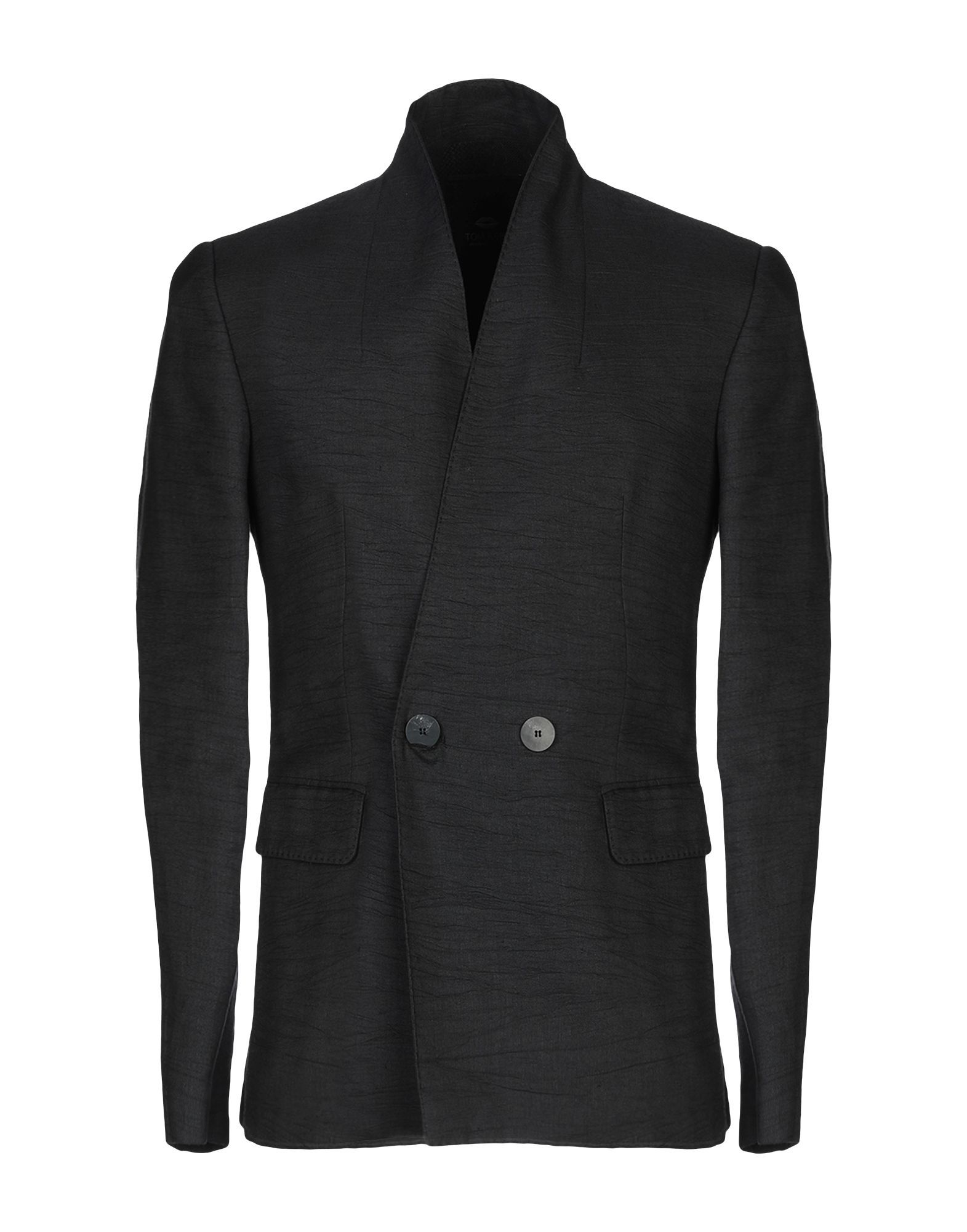 SUITS AND JACKETS Tom Rebl Black Man Cotton