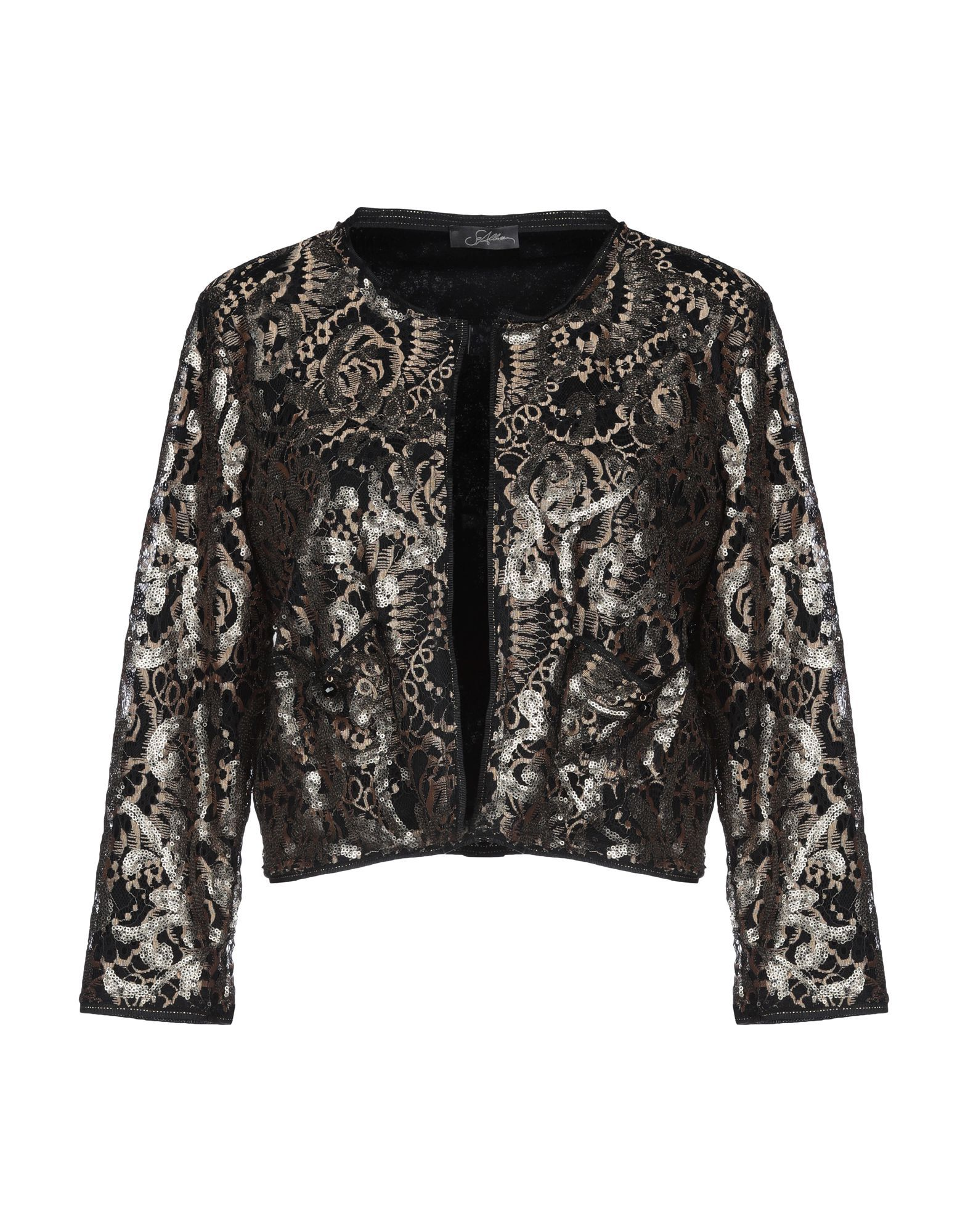 SUITS AND JACKETS Soallure Black Woman Polyester