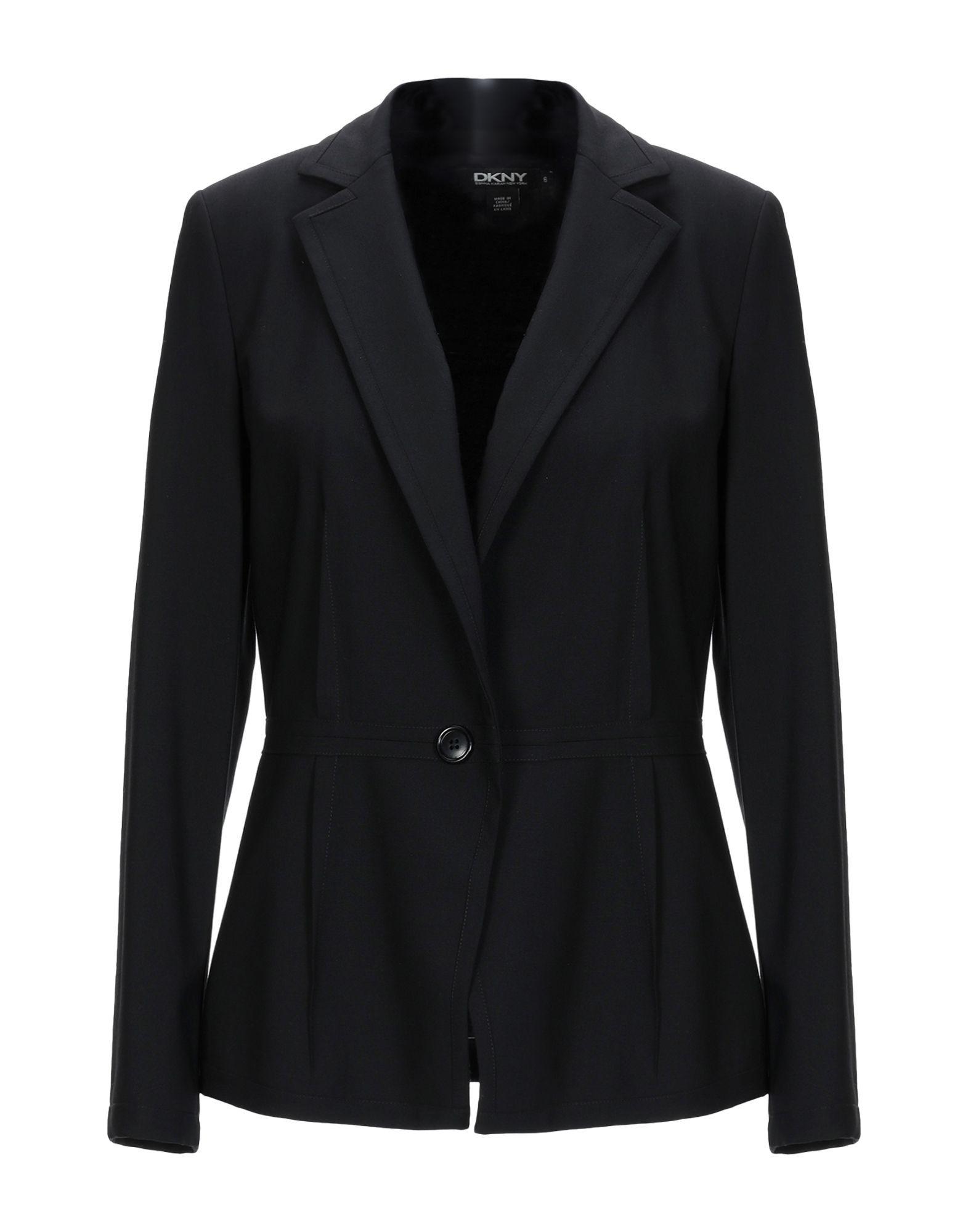 DKNY Black Wool Single Breasted Jacket
