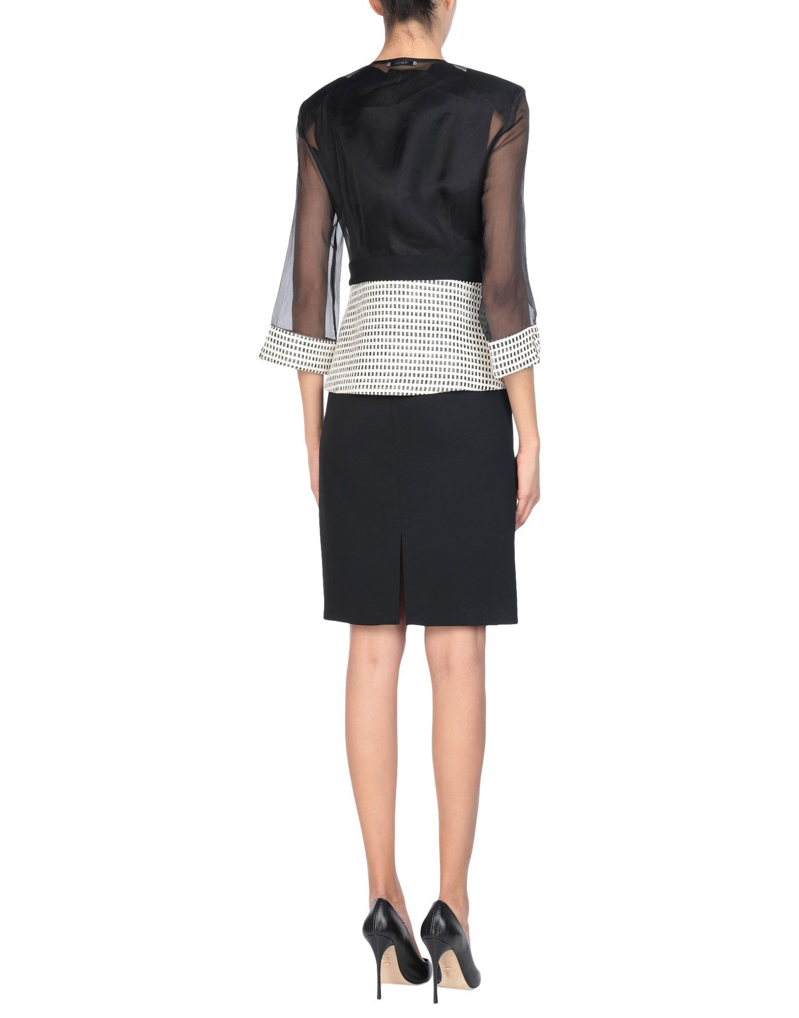 SUITS AND JACKETS Miss Max Black Woman Silk