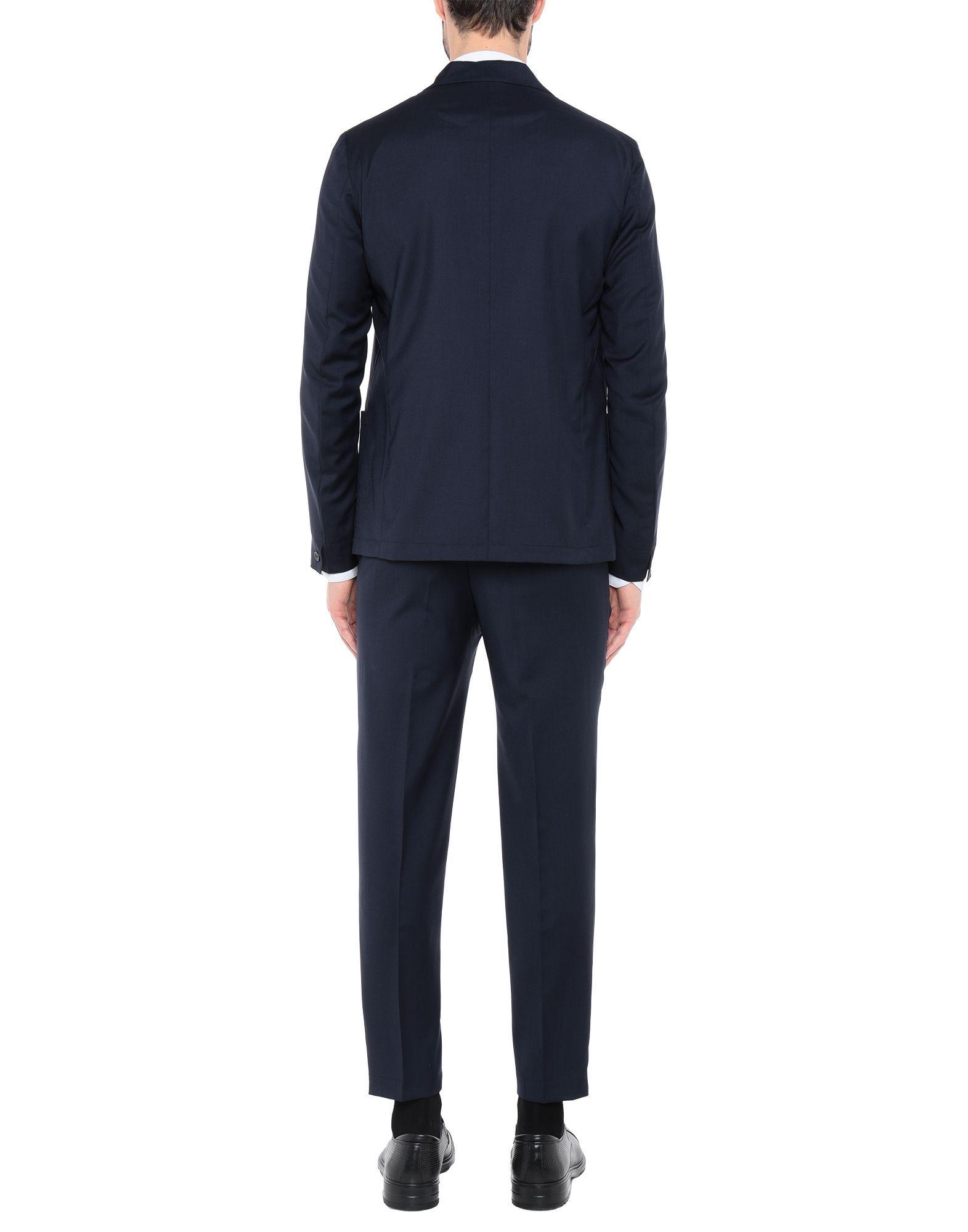 Mauro Grifoni Dark Blue Virgin Wool Single Breasted Suit