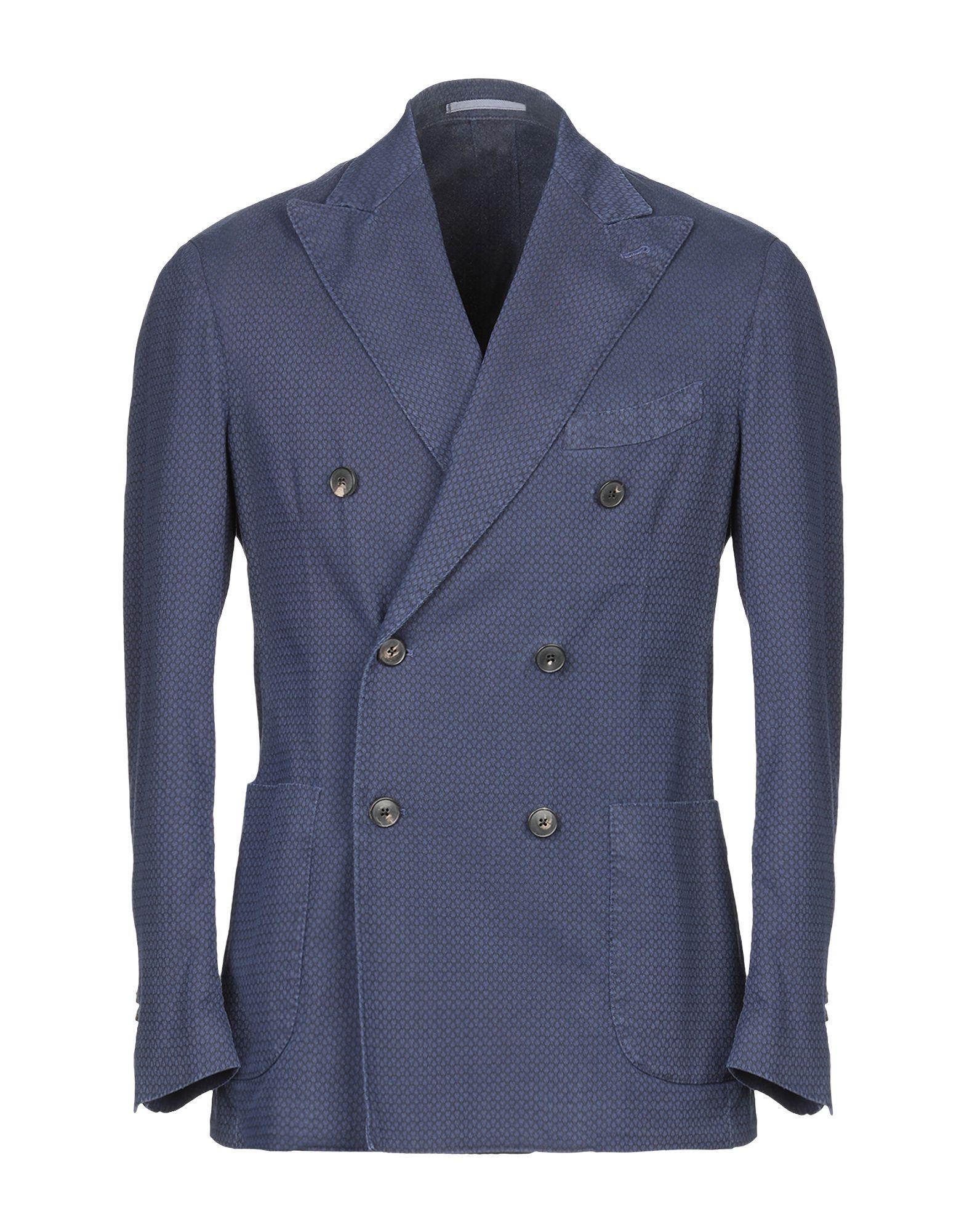 SUITS AND JACKETS Gabriele Pasini Blue Man Cotton