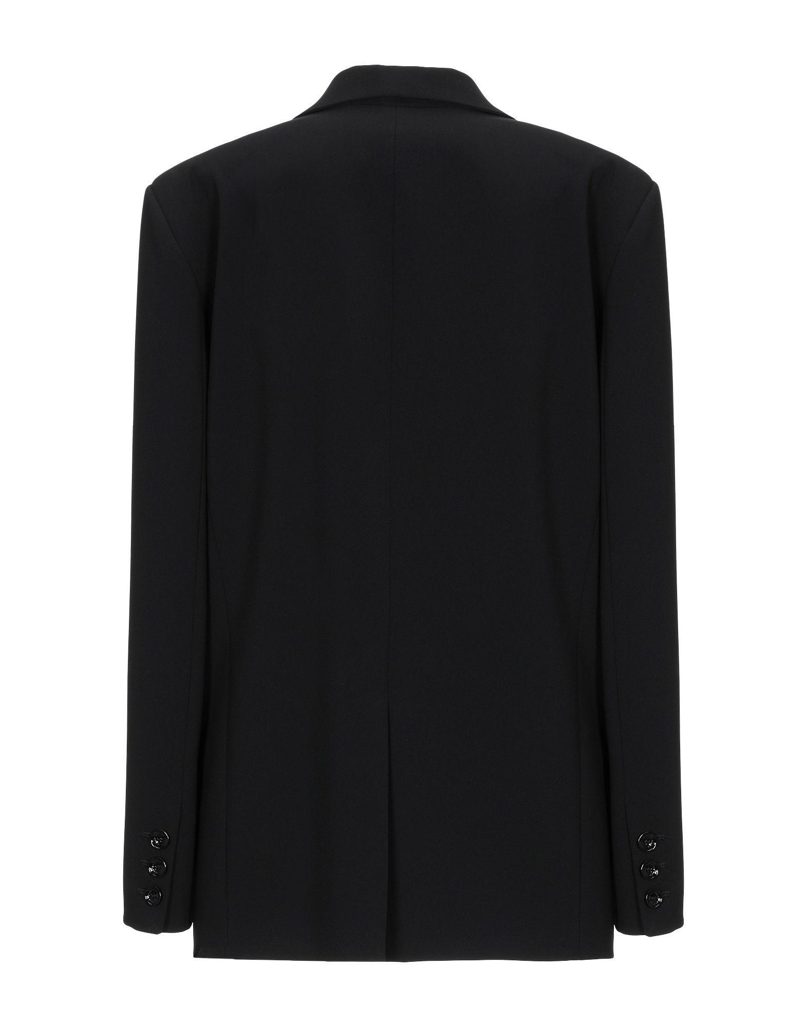 Patrizia Pepe Black Crepe Single Breasted Jacket