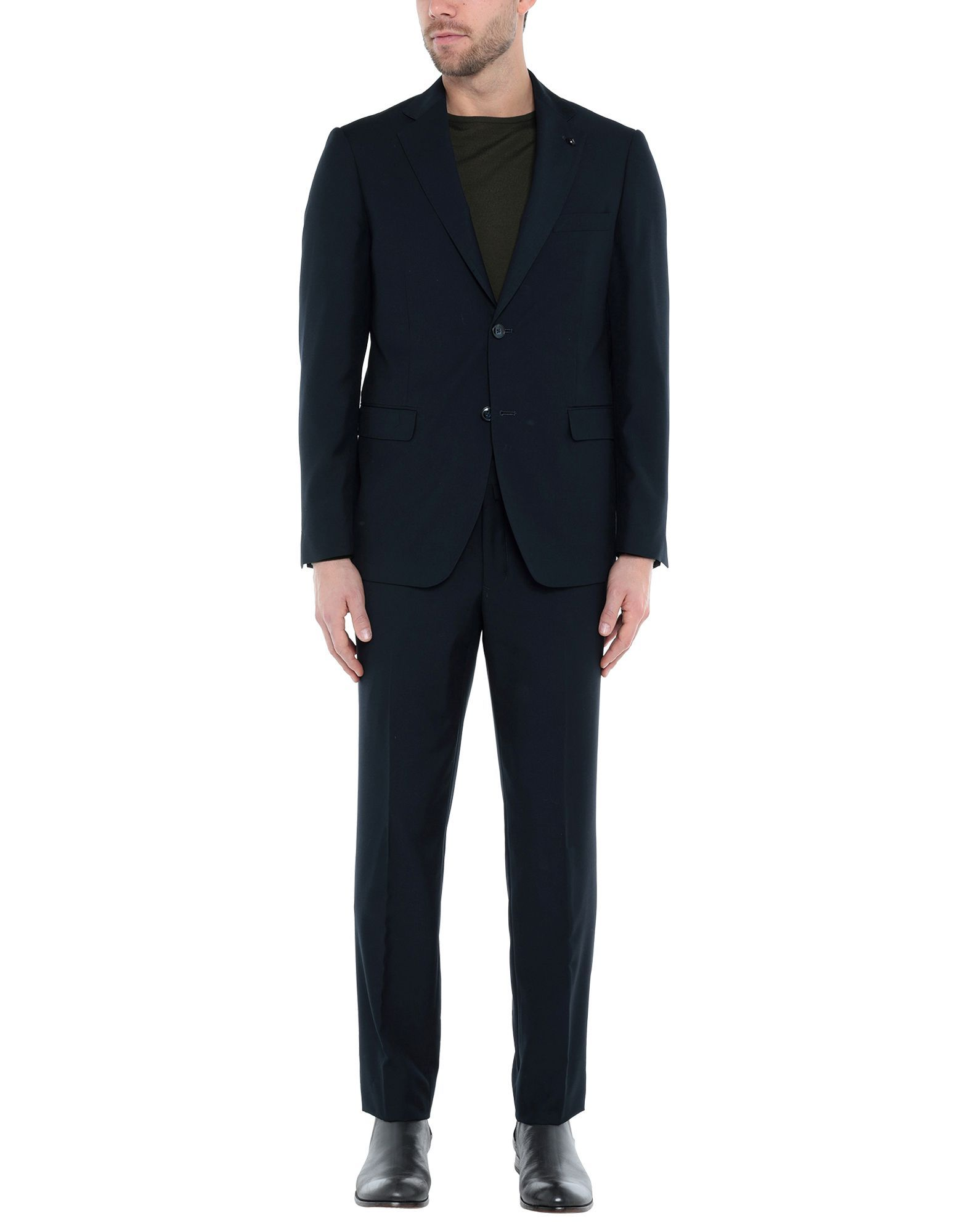 SUITS AND JACKETS Domenico Tagliente Blue Man Polyester