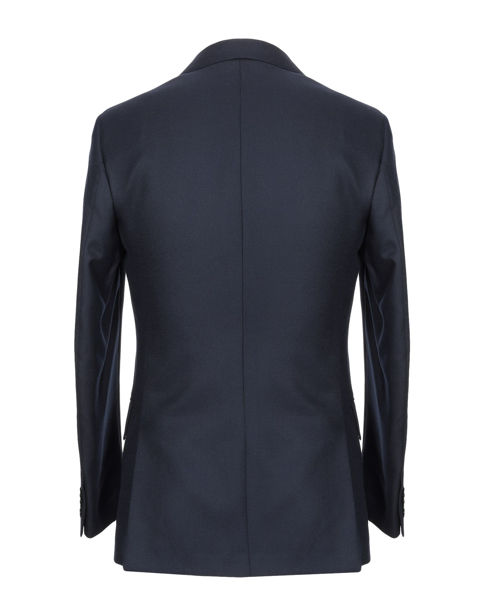 SUITS AND JACKETS Isaia Dark blue Man Wool