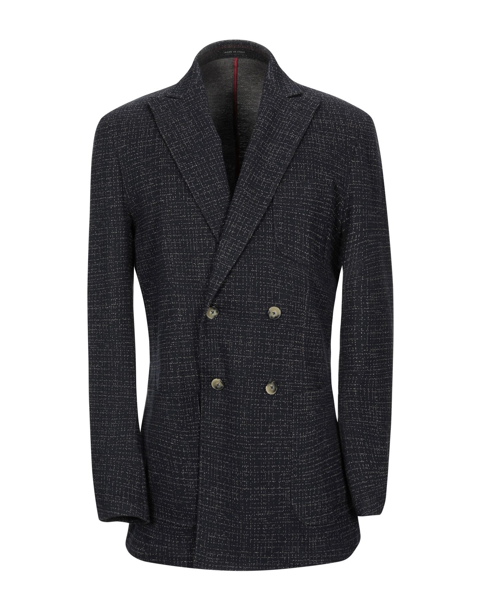 SUITS AND JACKETS Royal Row Dark blue Man Cotton