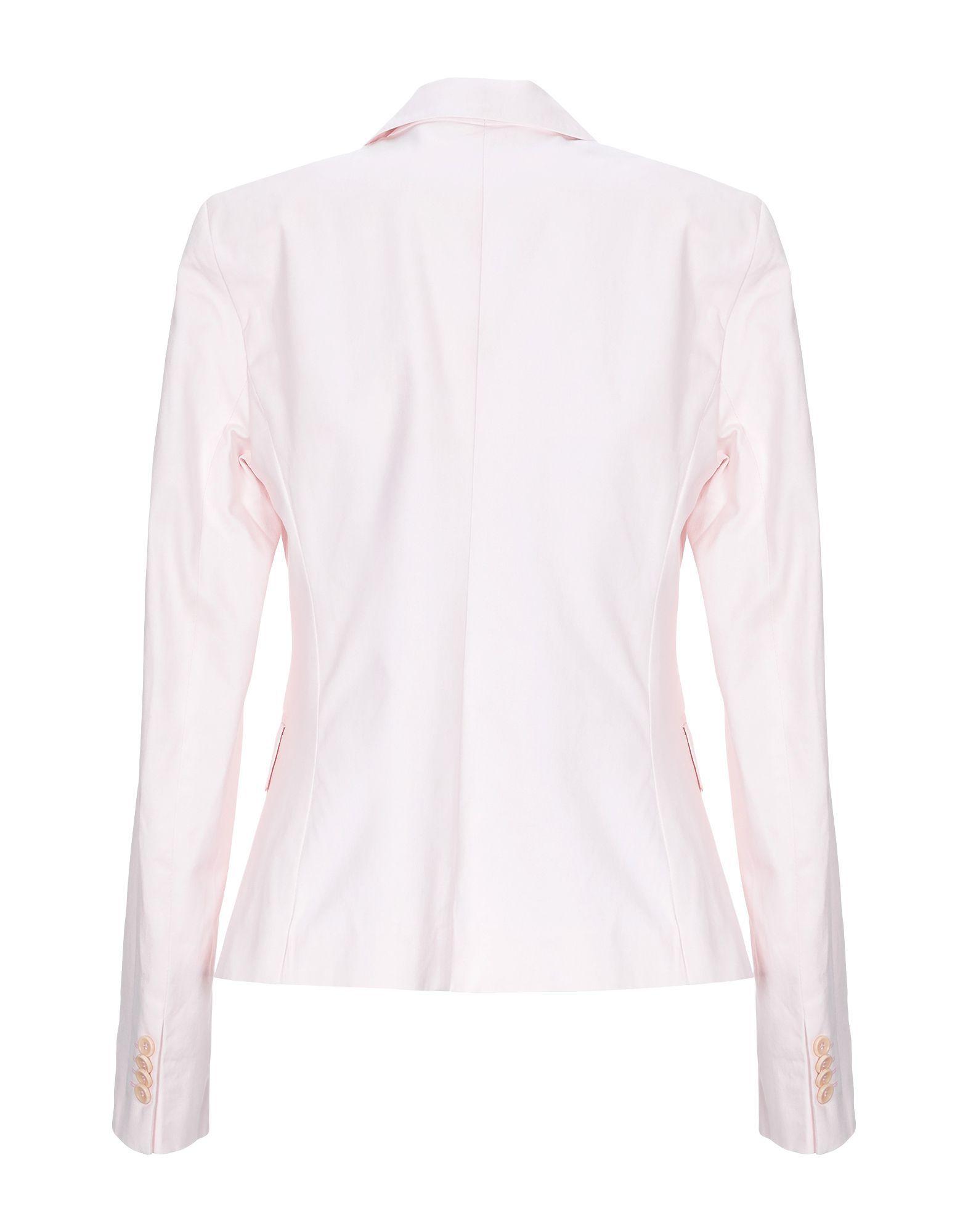 Daniele Alessandrini Pink Cotton Single Breasted Blazer