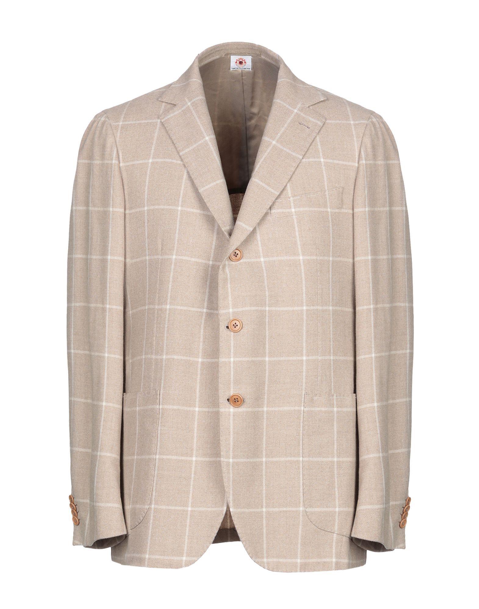 Luigi Borrelli Napoli Sand Wool Single Breasted Jacket