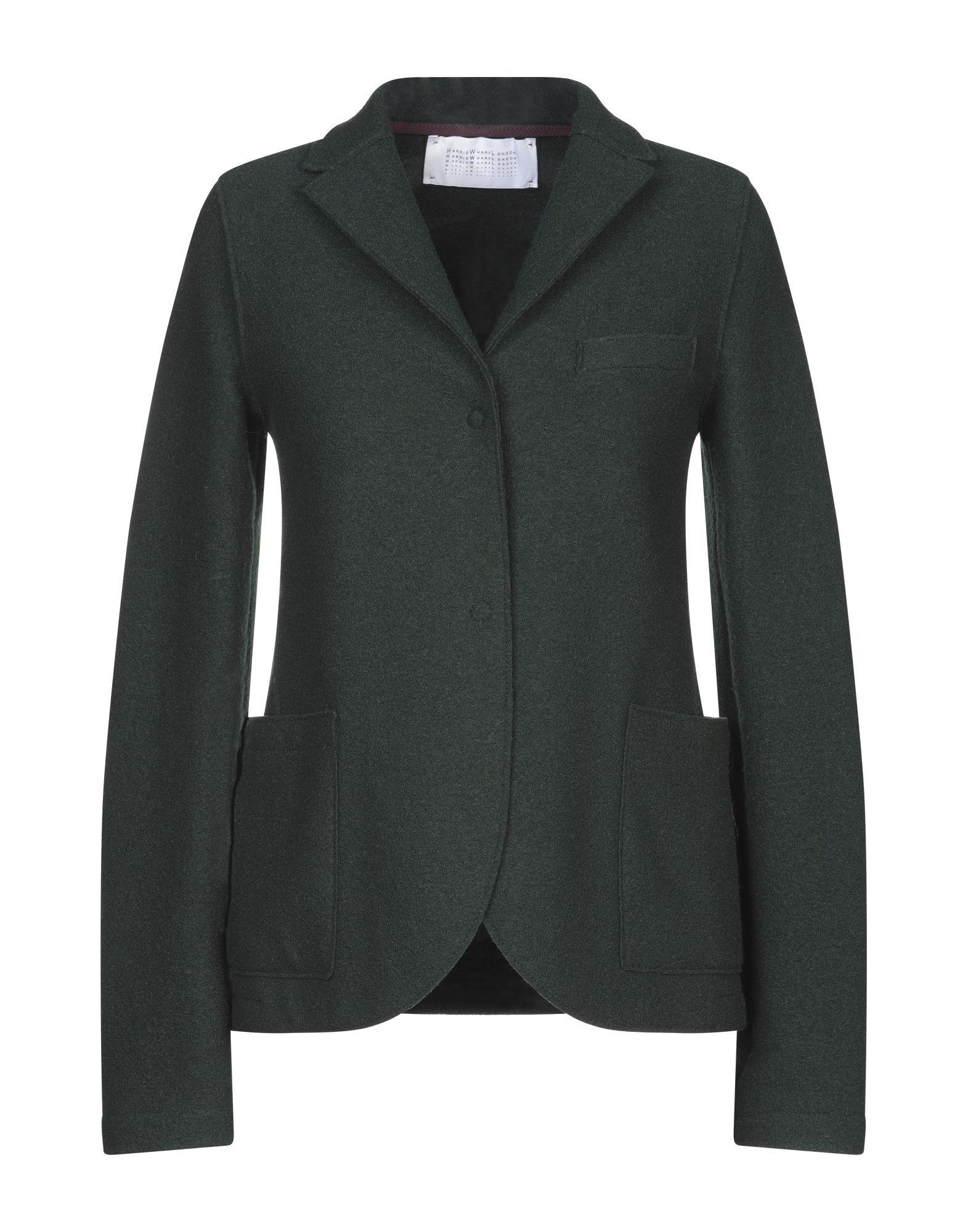 Harris Wharf London Dark Green Virgin Wool Jacket