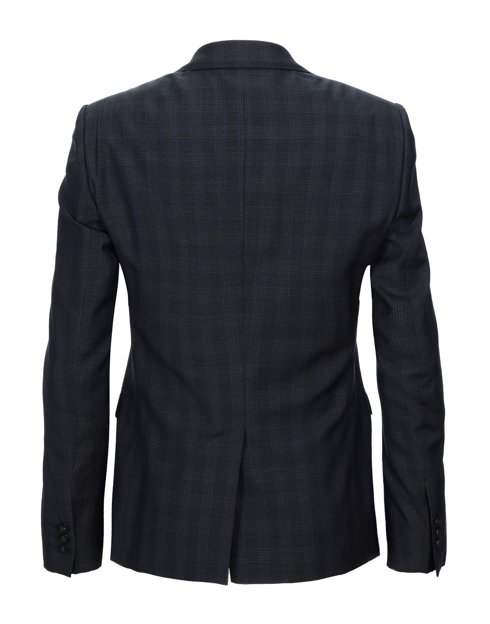 Emporio Armani Dark Blue Virgin Wool Single Breasted Jacket