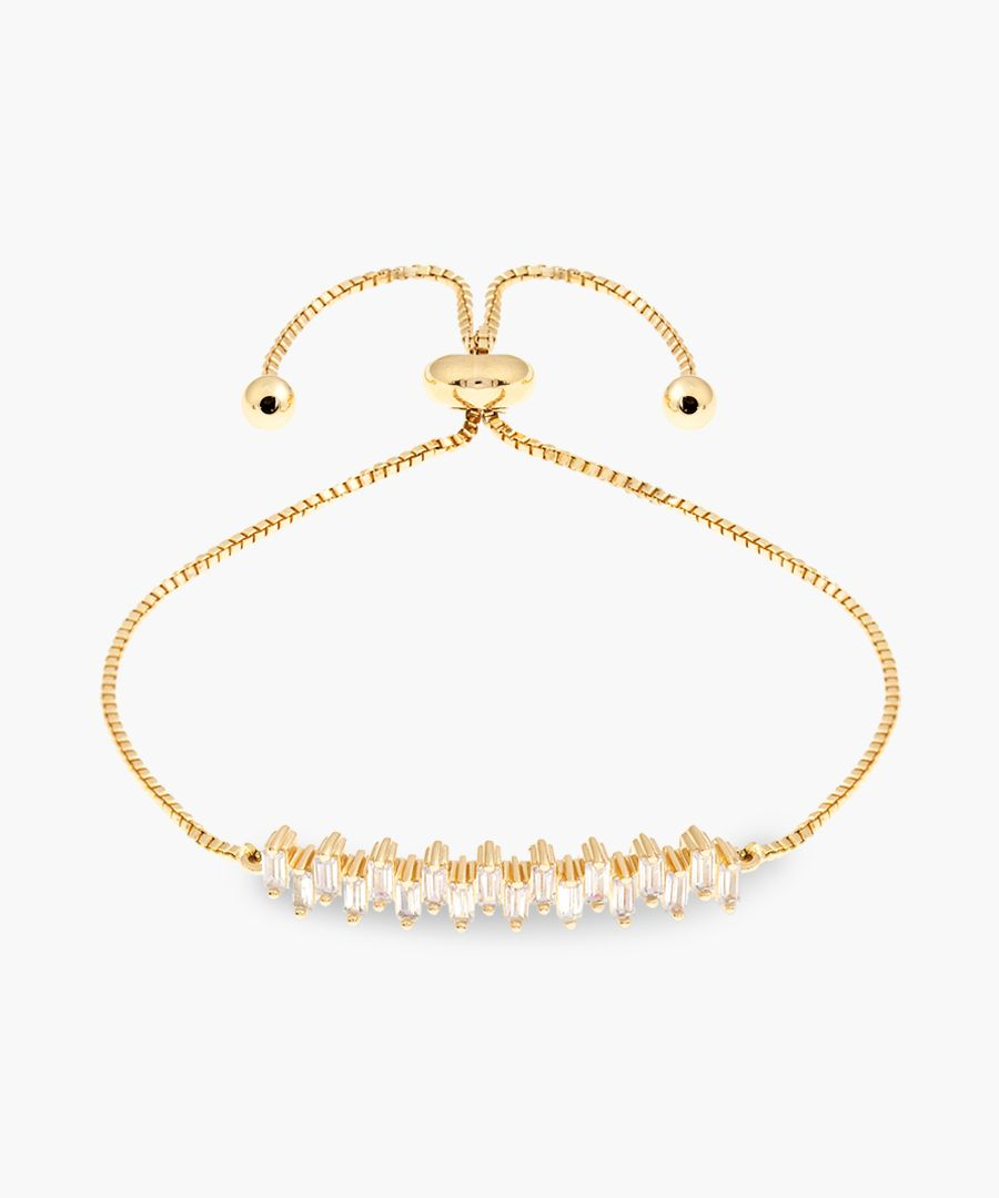 18k yellow gold-plated bracelet