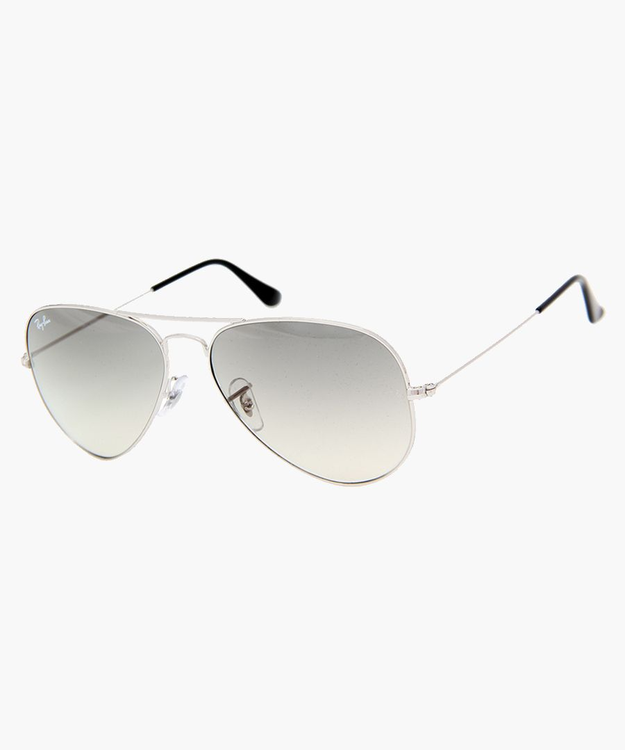 Aviator silver-tone sunglasses