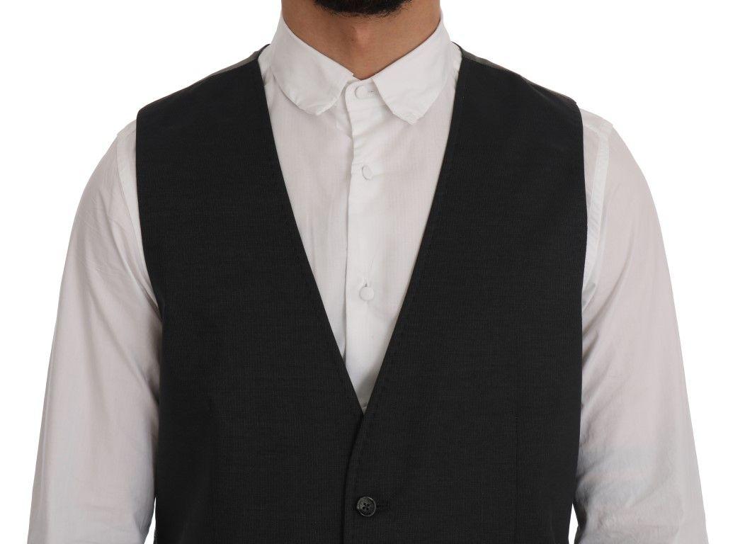 Dolce & Gabbana Gray STAFF Cotton Rayon Vest