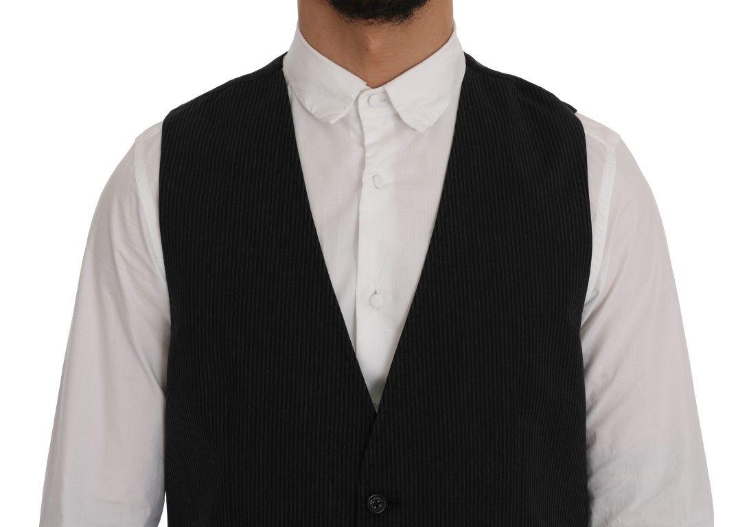 Dolce & Gabbana Black STAFF Cotton Rayon Vest