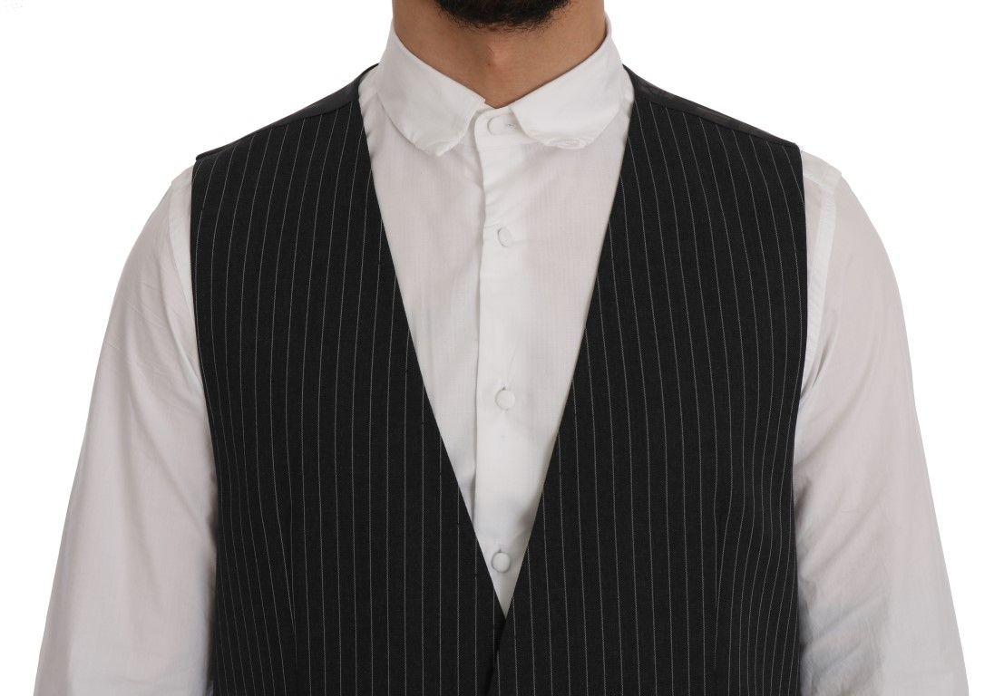 Dolce & Gabbana Gray Wool Stretch Vest