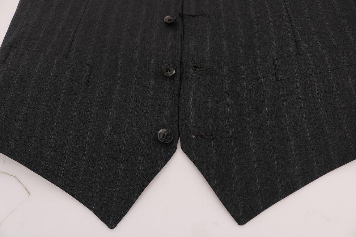 Dolce & Gabbana Gray STAFF Wool Stretch Vest
