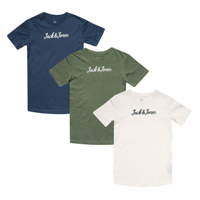 Boys' Jack Jones Junior Winks 3 Pack T-Shirt in Blue