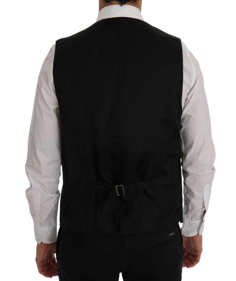 Dolce & Gabbana Black STAFF Wool Stretch Vest