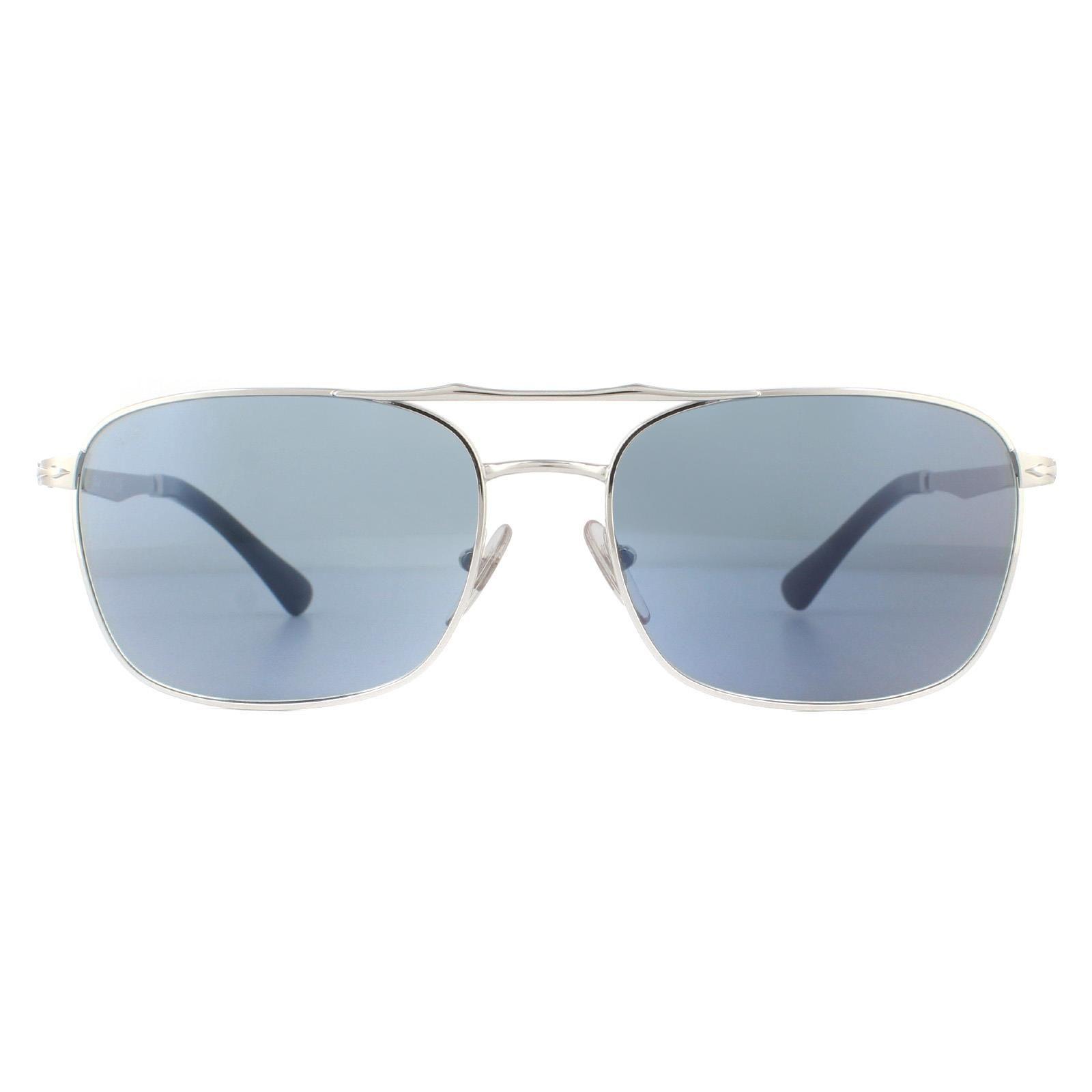 Persol Sunglasses PO2454S 518/56 Silver Light Blue
