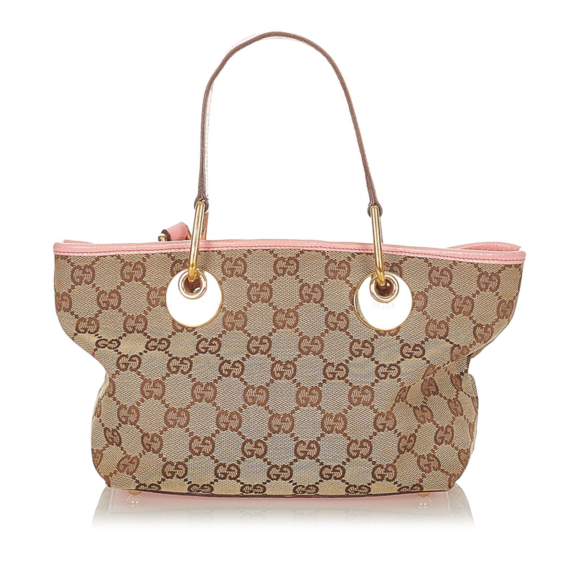 Vintage Gucci GG Canvas Eclipse Handbag Brown