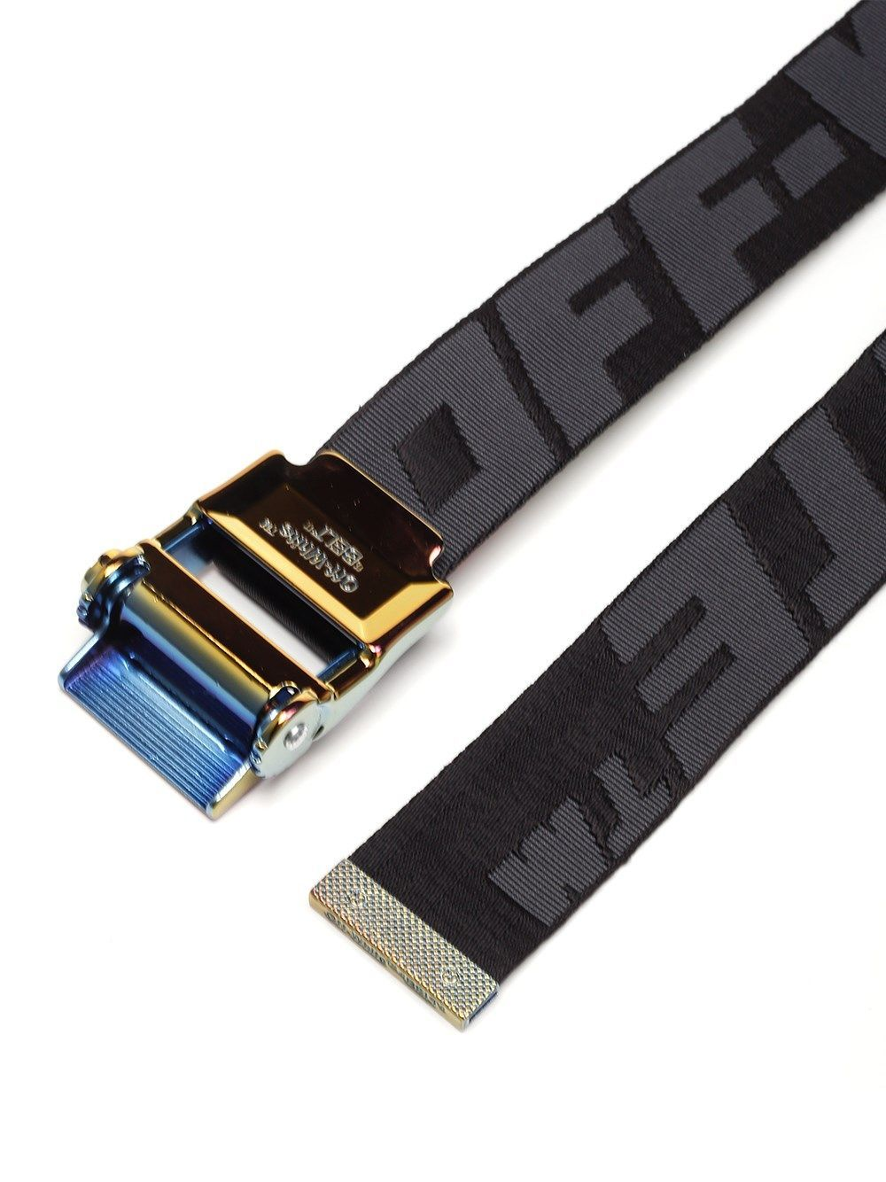 OFF-WHITE MEN'S OMRB034S20F420411010 BLACK POLYAMIDE BELT